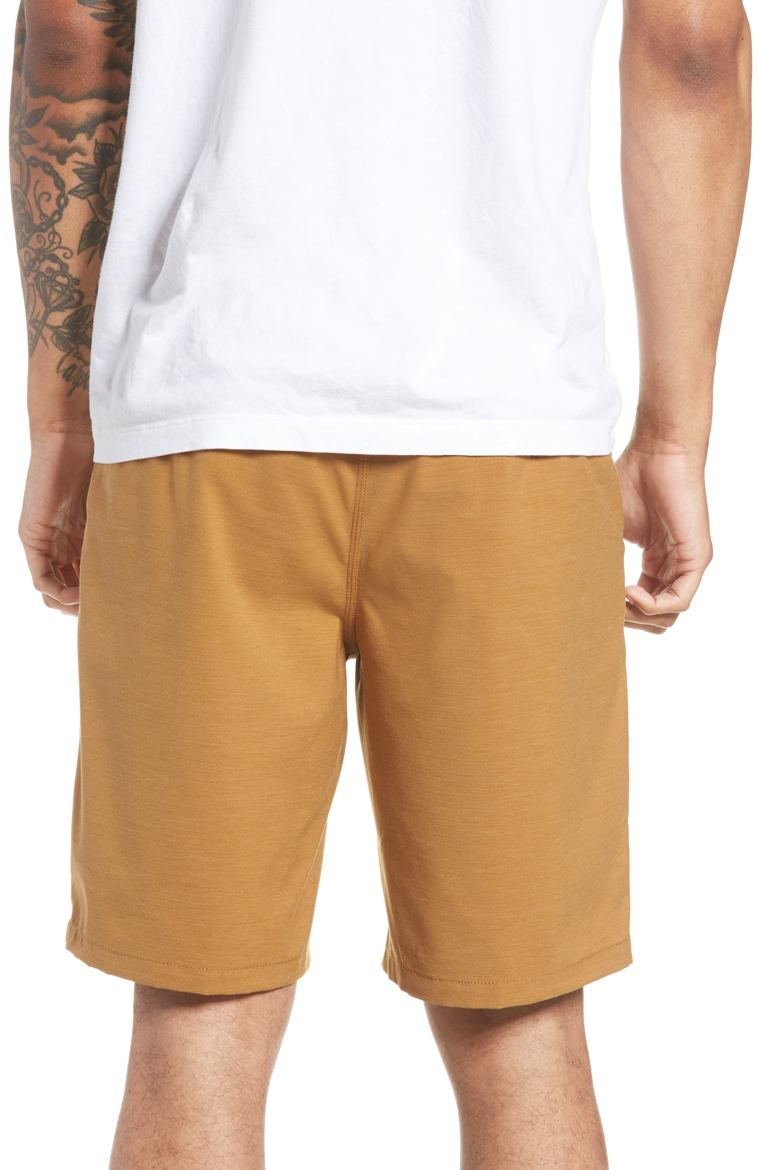 Authentic MicroPlush Decksider Shorts,                             Alternate thumbnail 2, color,                             Dirt