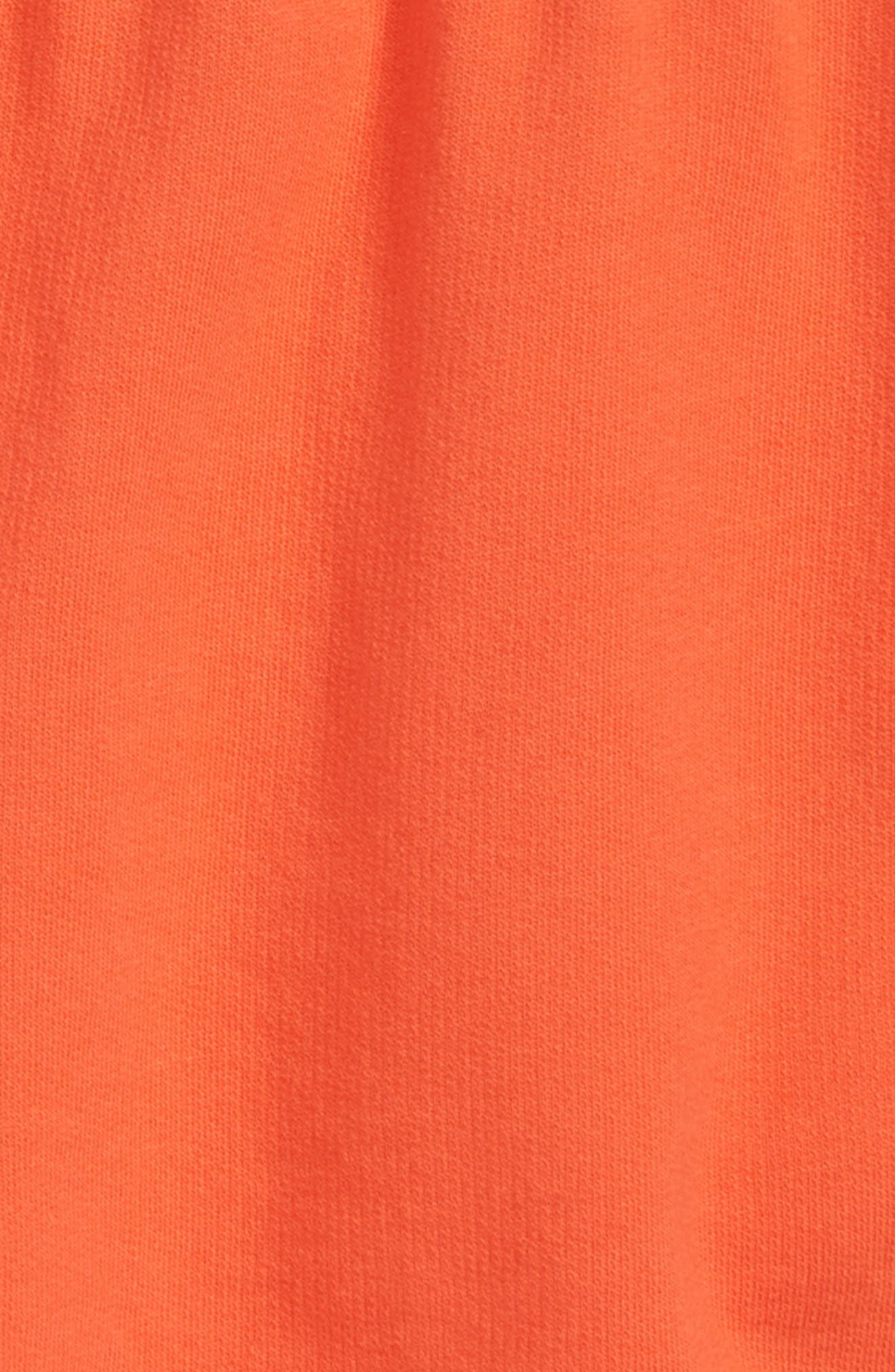 Cotton Dolphin Shorts,                             Alternate thumbnail 2, color,                             Coral Hot