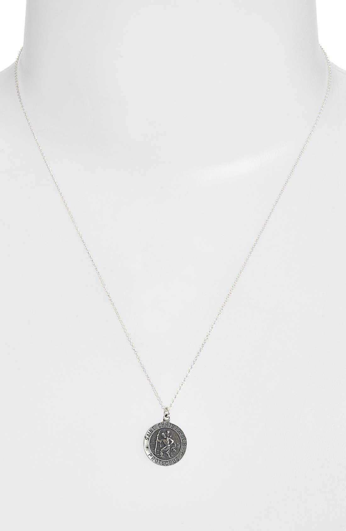 Alternate Image 2  - Dogeared 'St. Christopher' Pendant Necklace