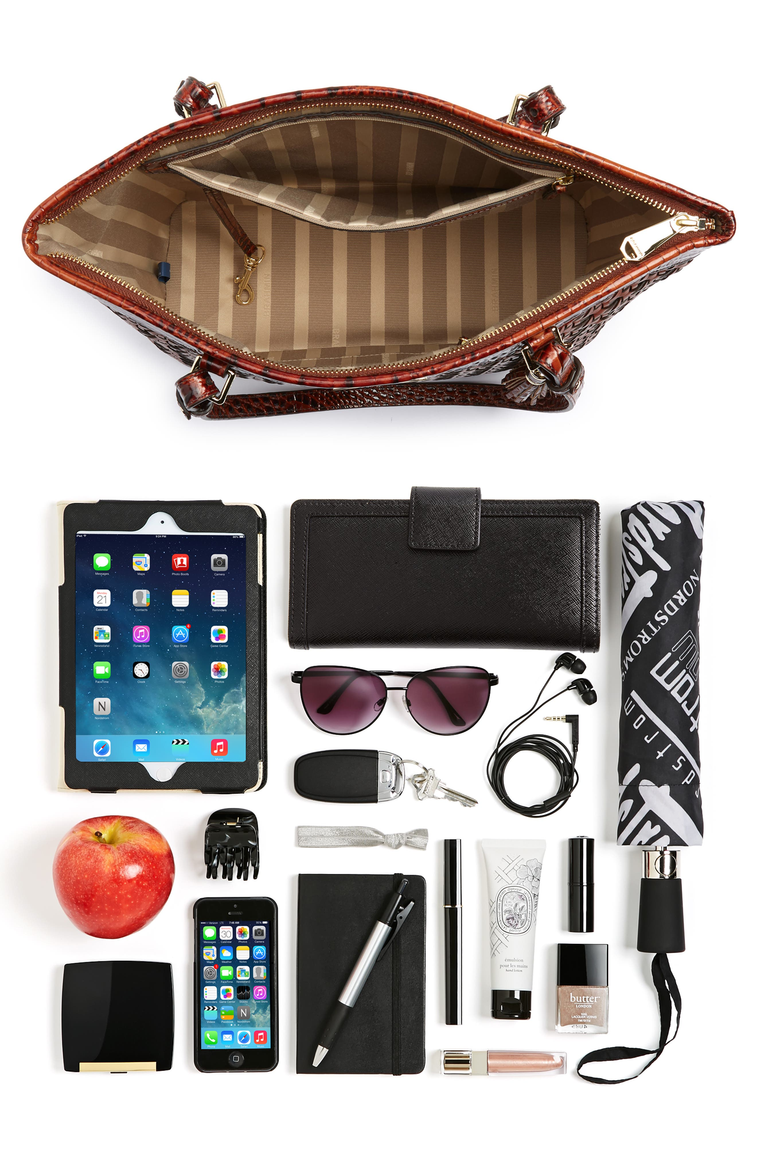 Medium Asher Leather Tote Bag,                             Alternate thumbnail 5, color,