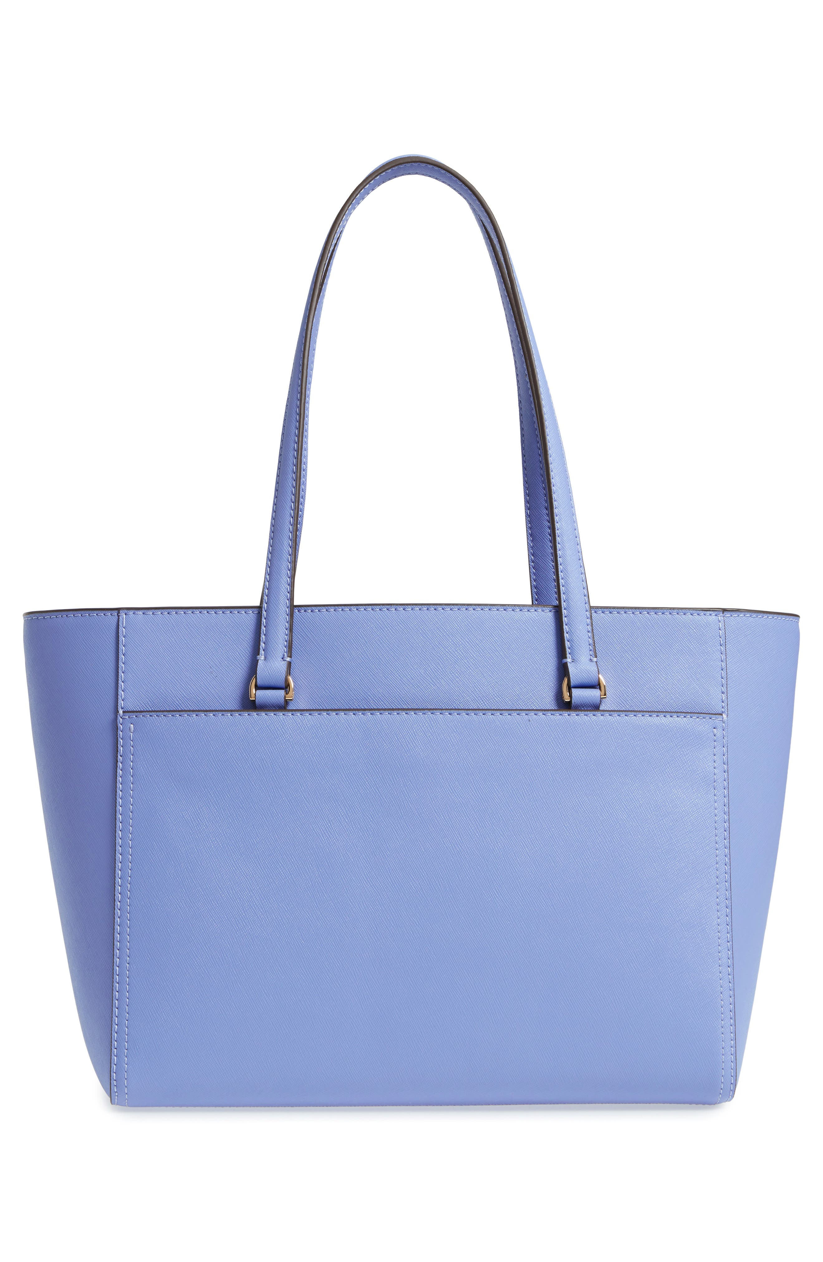 Small Robinson Leather Tote,                             Alternate thumbnail 3, color,                             Bow Blue