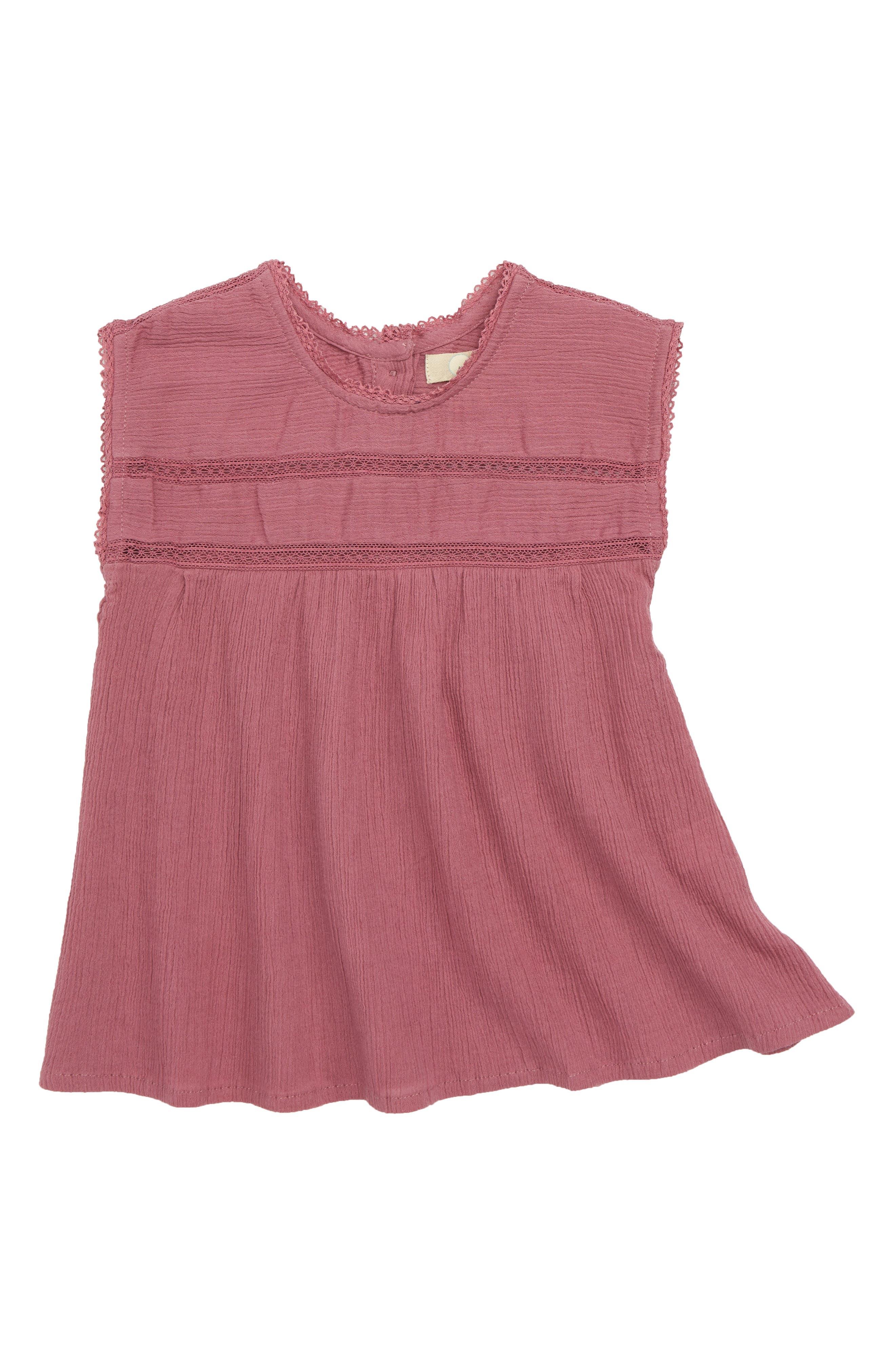 Kensie Crinkle Dress,                         Main,                         color, Mauve