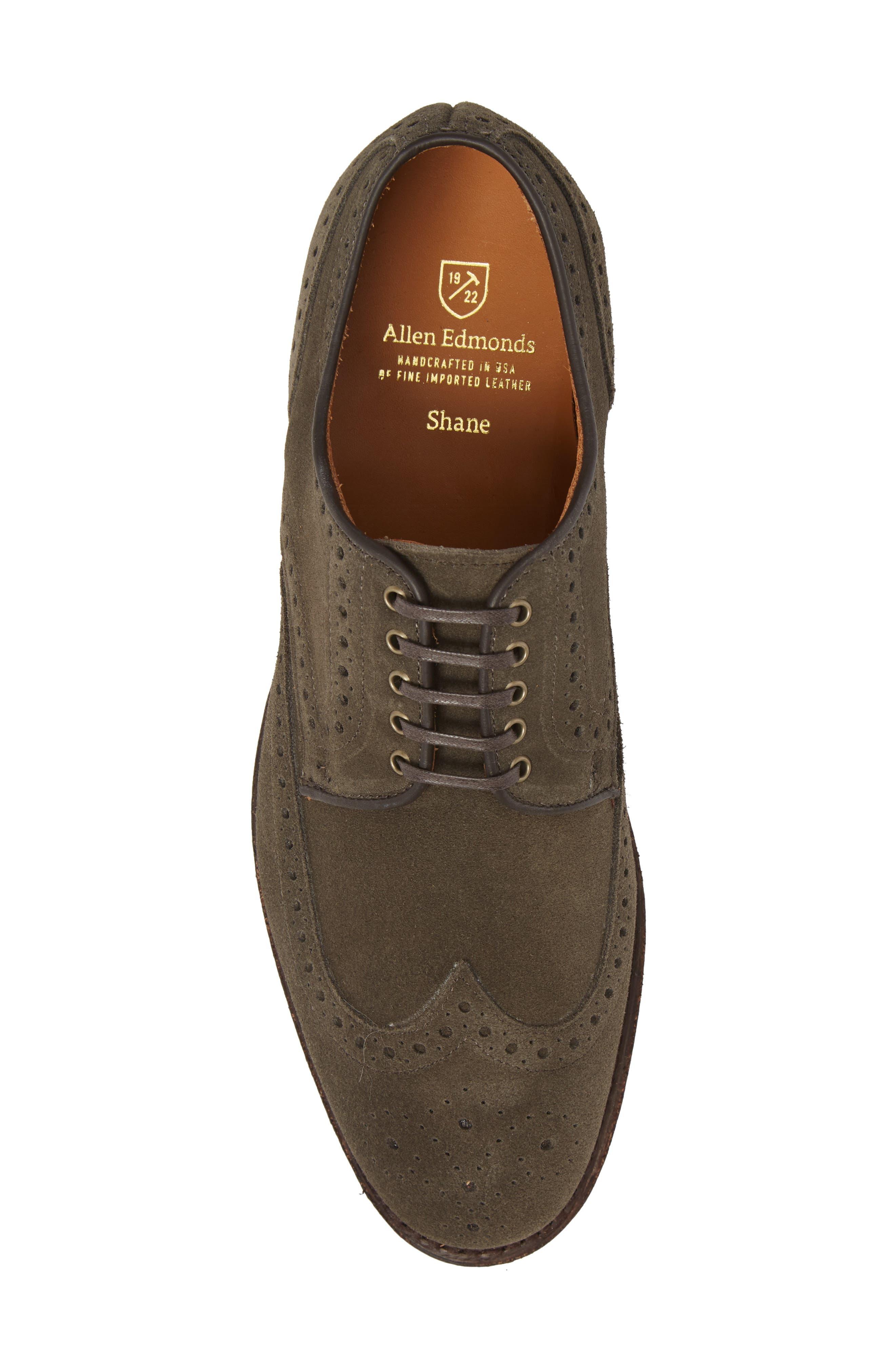 Shane Wingtip Derby,                             Alternate thumbnail 5, color,                             Slate Leather