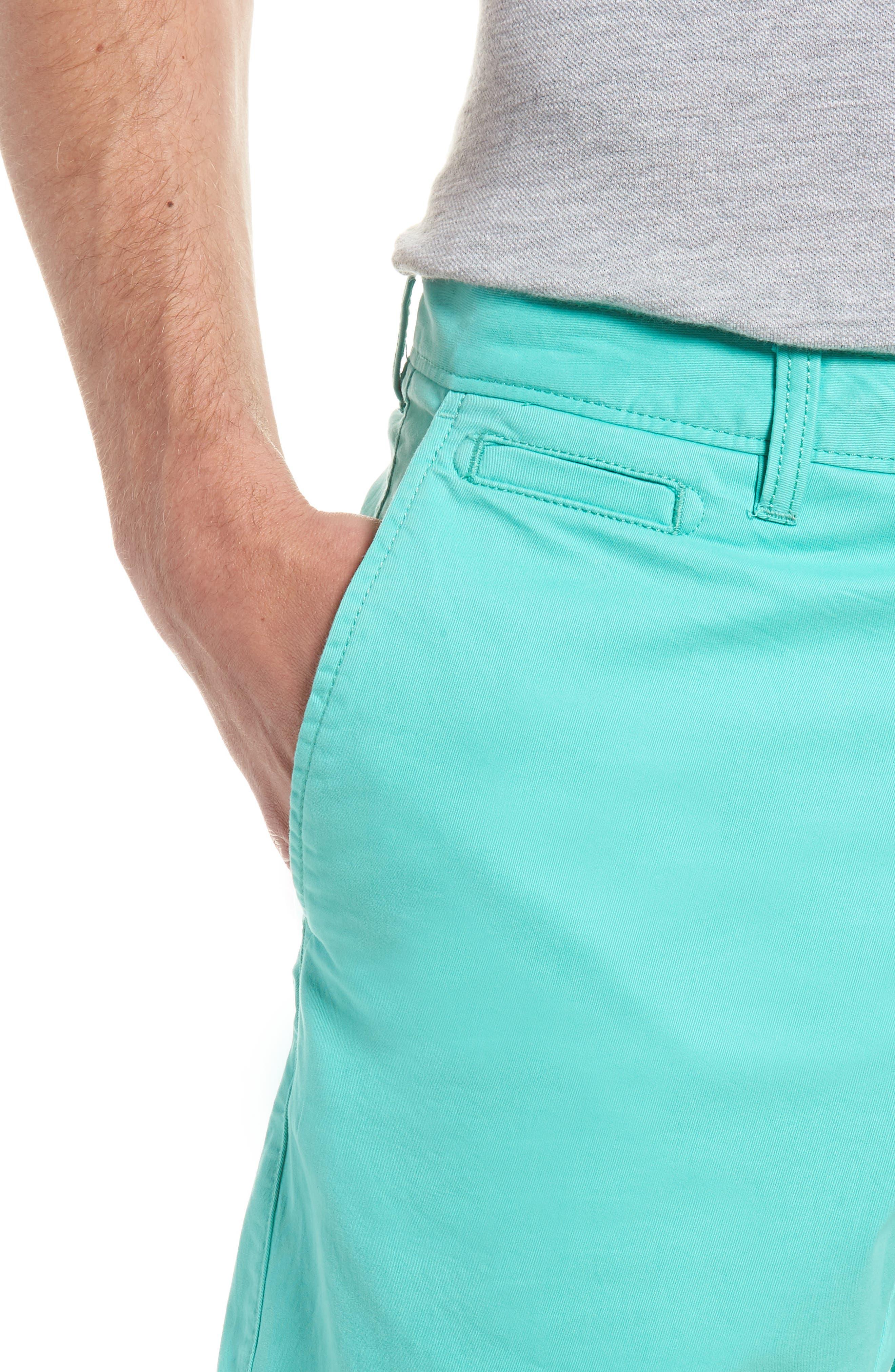 Ballard Slim Fit Stretch Chino 9-Inch Shorts,                             Alternate thumbnail 4, color,                             Green Largo