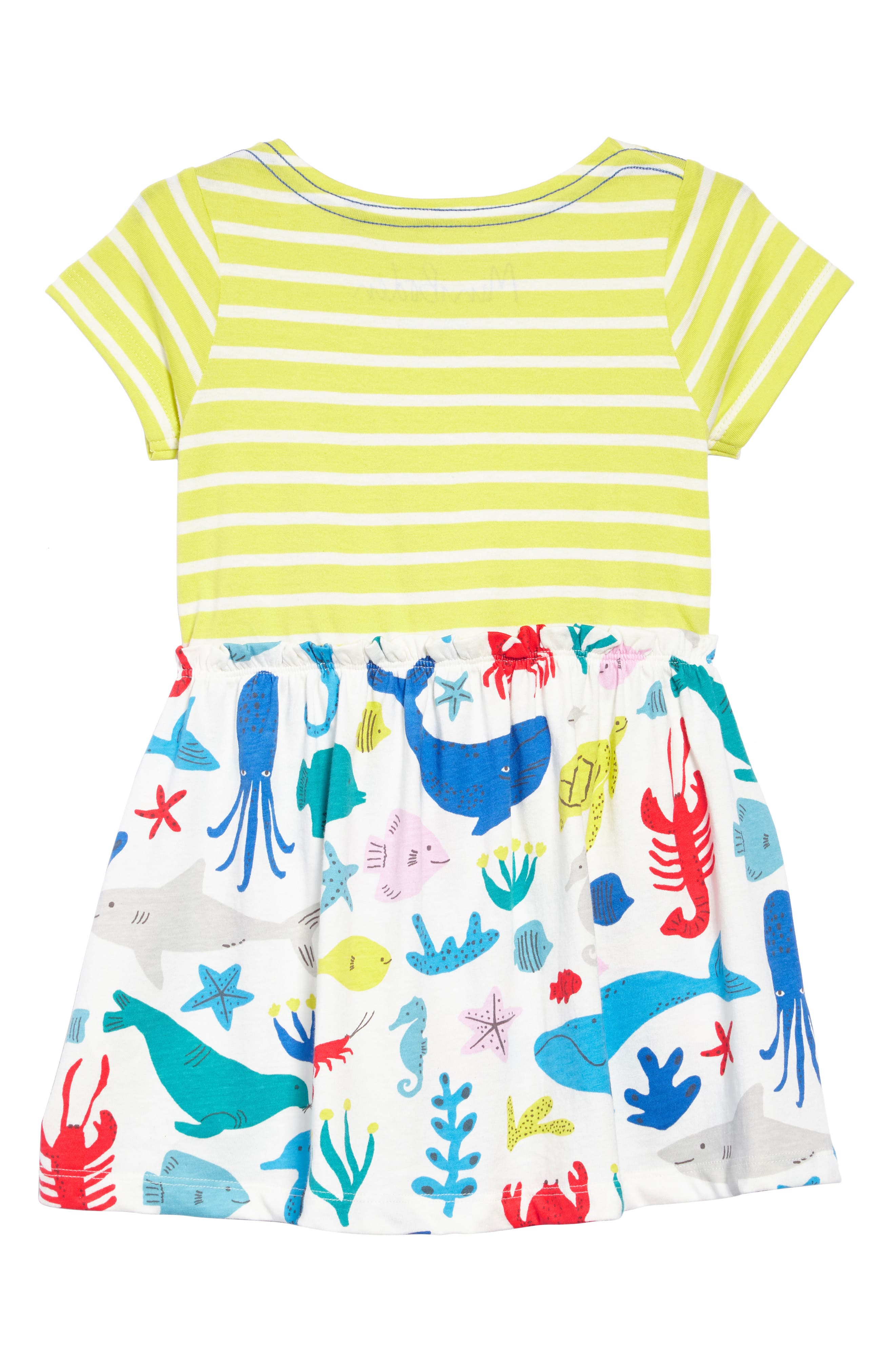 Bright Hotchpotch Jersey Dress,                             Alternate thumbnail 2, color,                             Ivoyellow/ Ivory Under The Sea