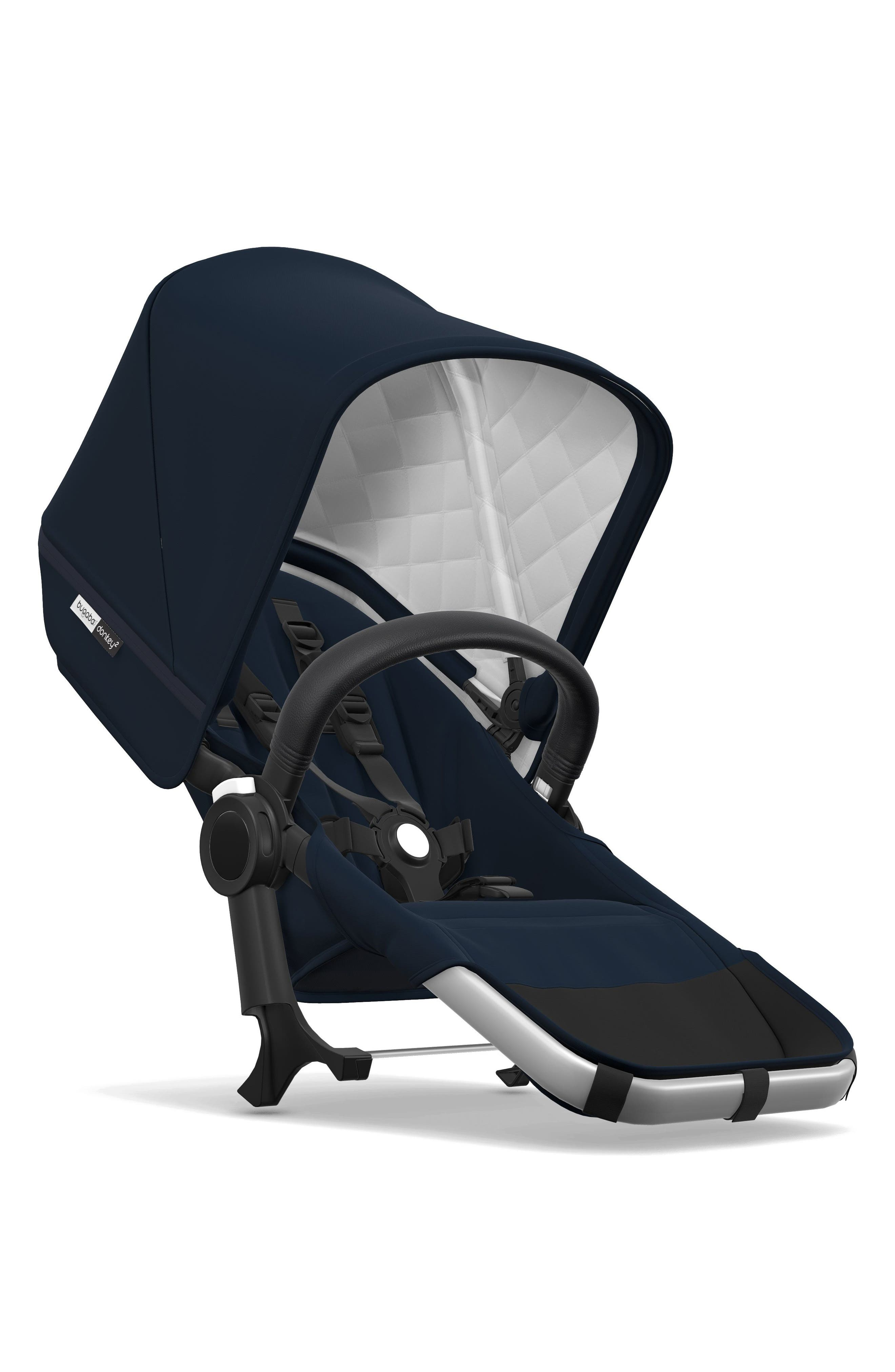 Frame Seat Extension for Donkey2 Stroller,                             Main thumbnail 1, color,                             Navy/ Aluminum