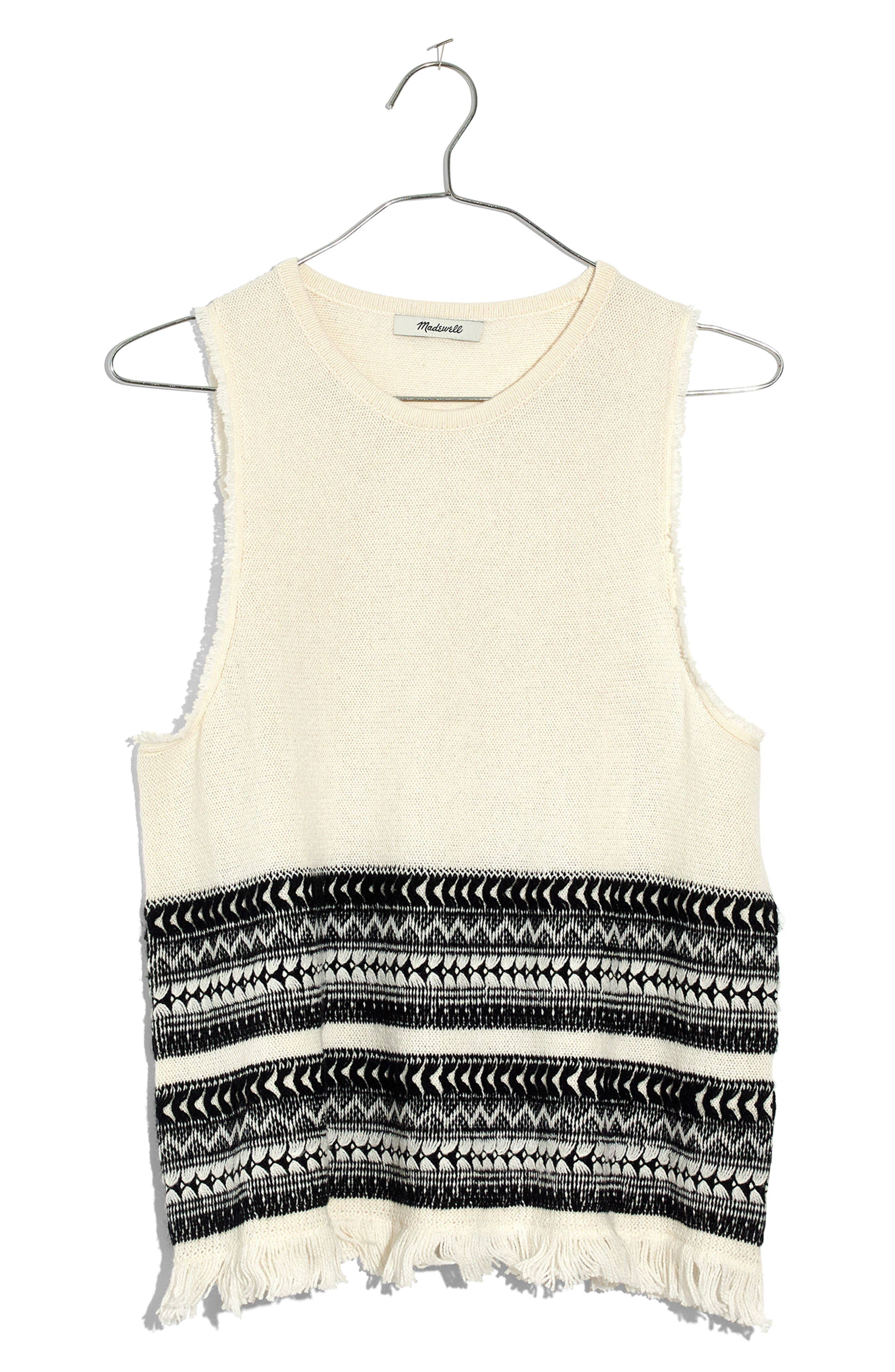 Villagrove Sweater Tank,                         Main,                         color, Bright Ivory