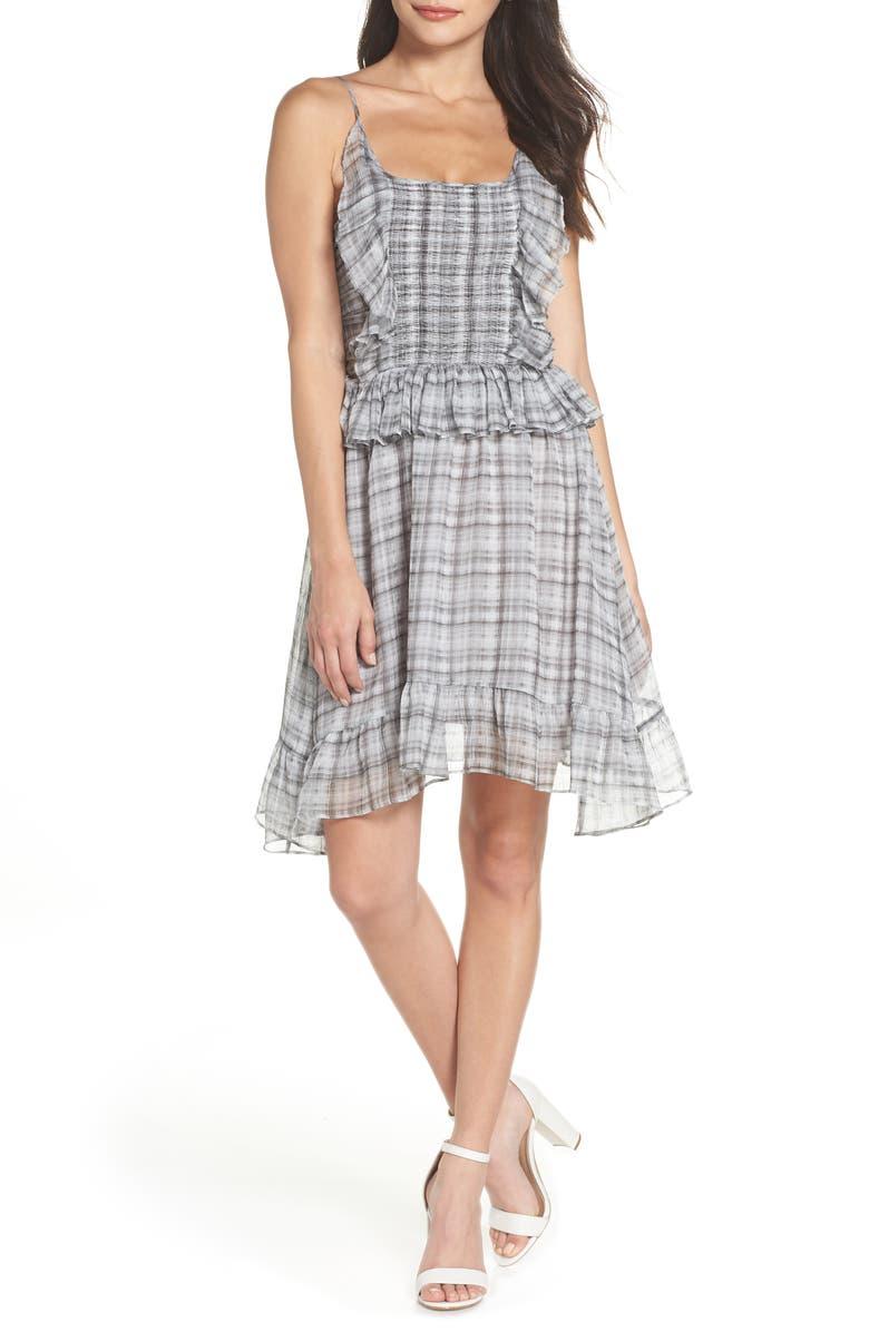 Plaid Smocked Ruffle Dress