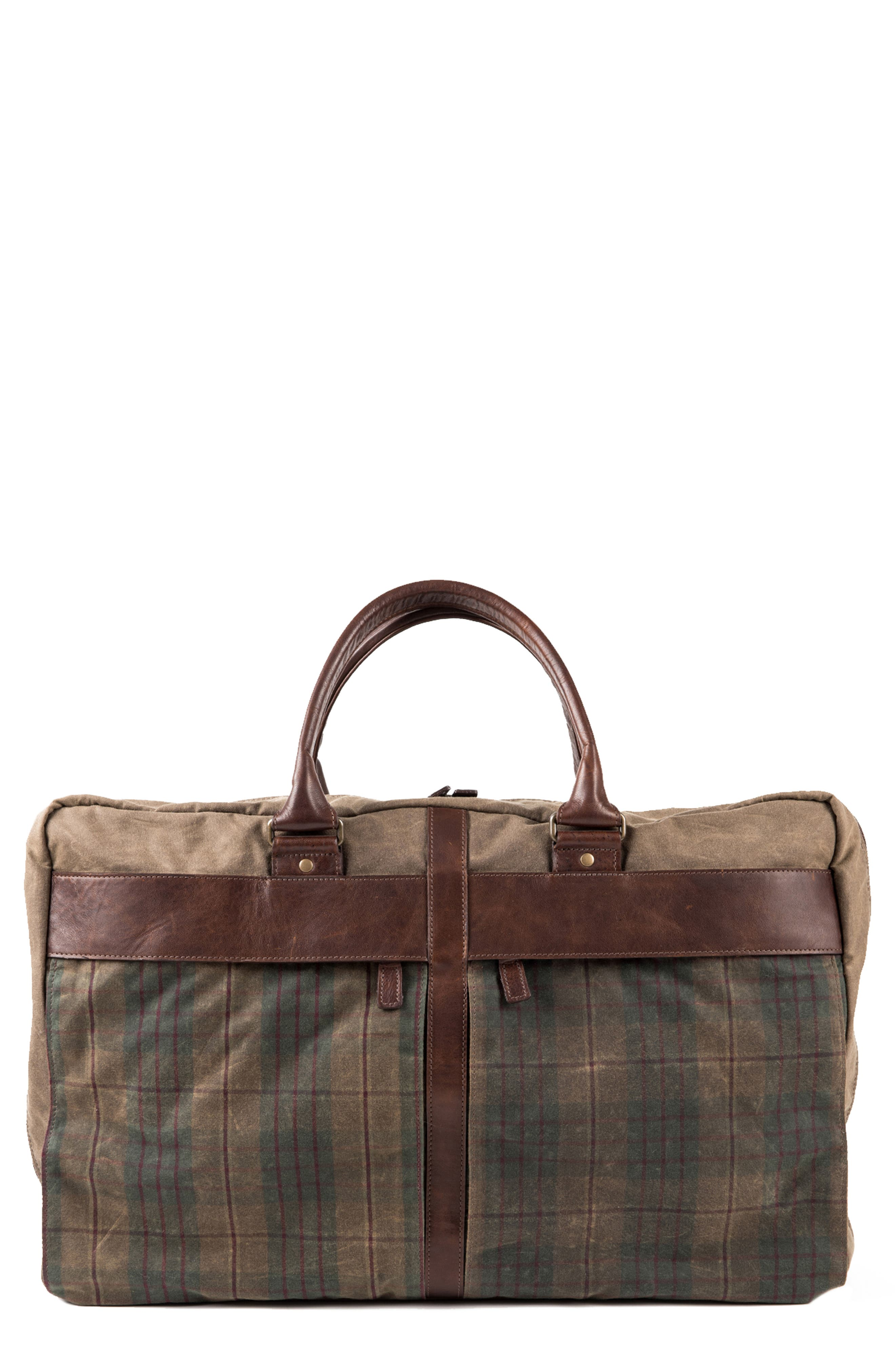 Tinsley Trifold Garment Bag,                             Main thumbnail 1, color,                             Baldwin Oak