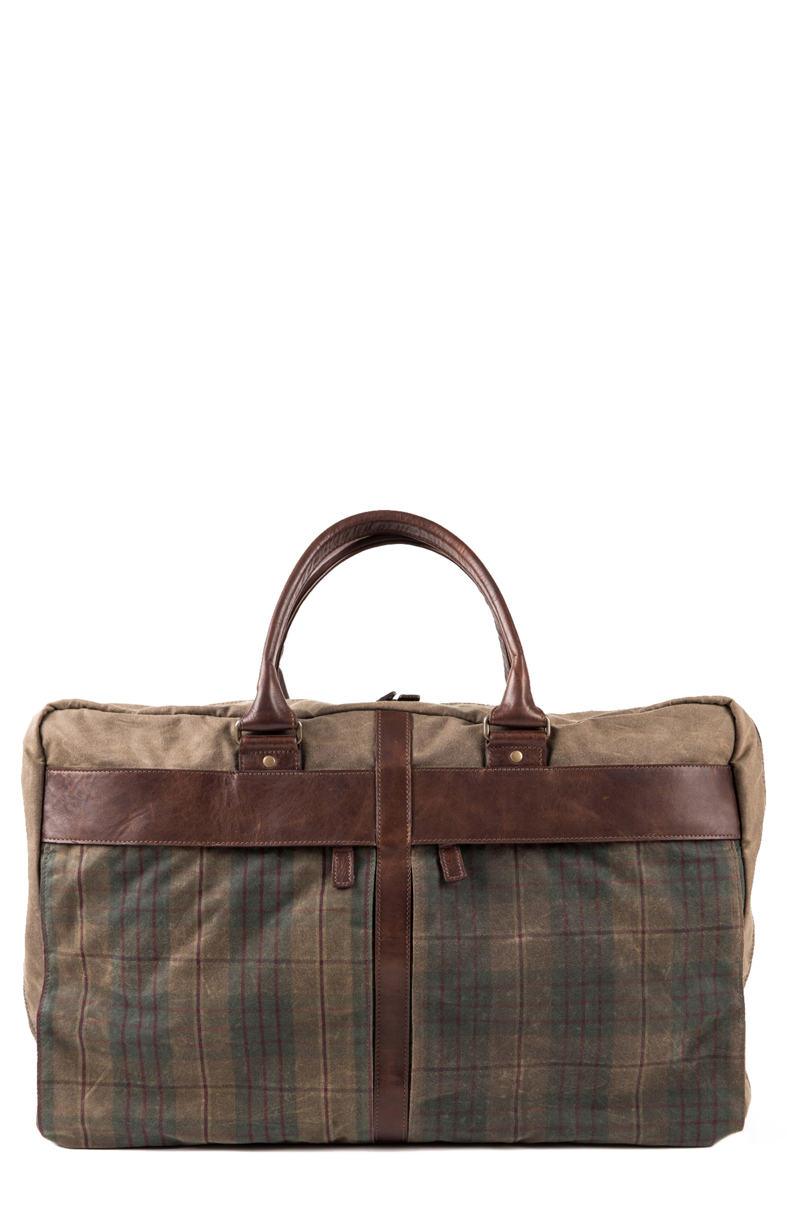 Tinsley Trifold Garment Bag,                         Main,                         color, Baldwin Oak