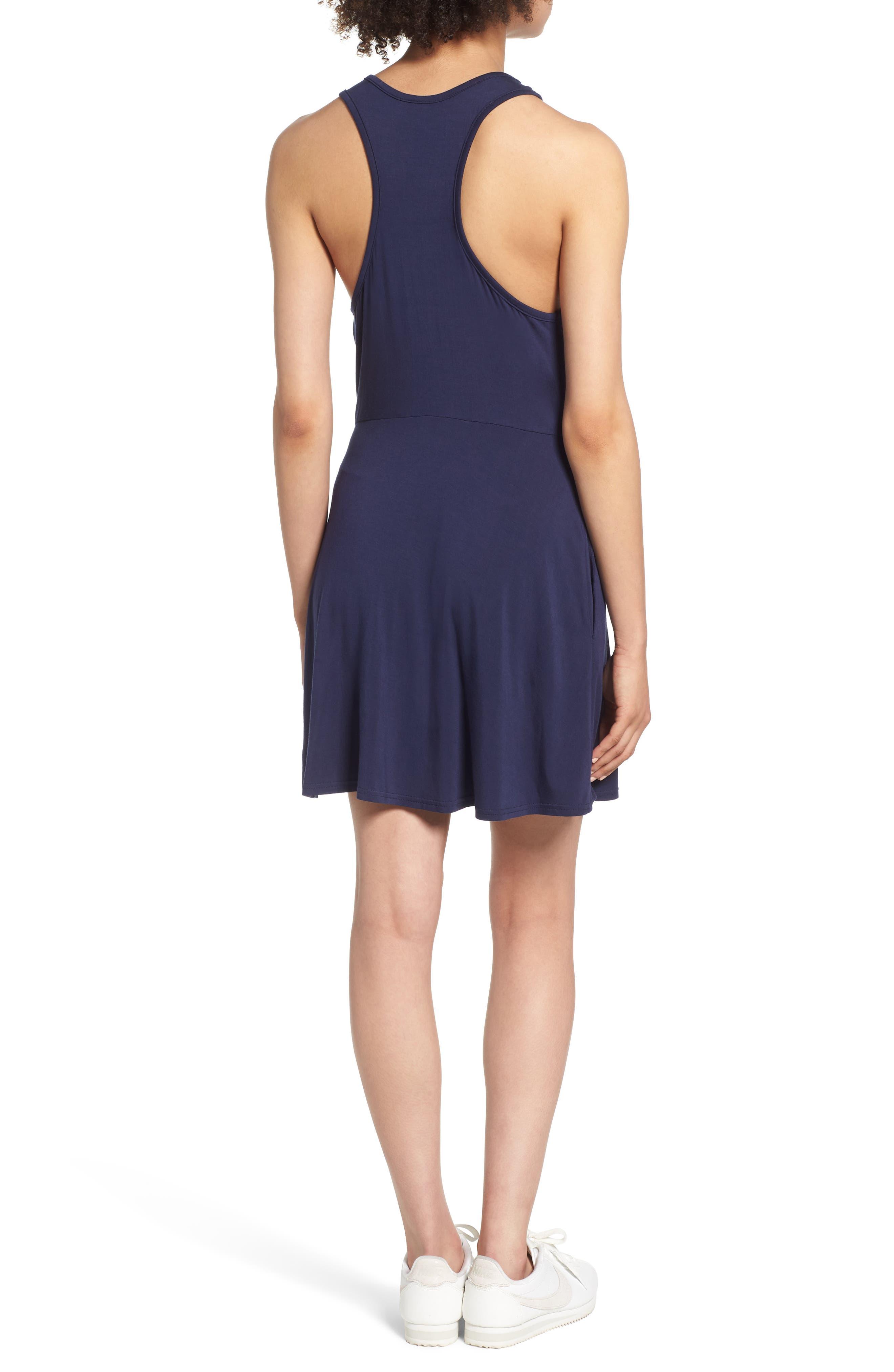 Iris Racerback Dress,                             Alternate thumbnail 2, color,                             Shady Blue