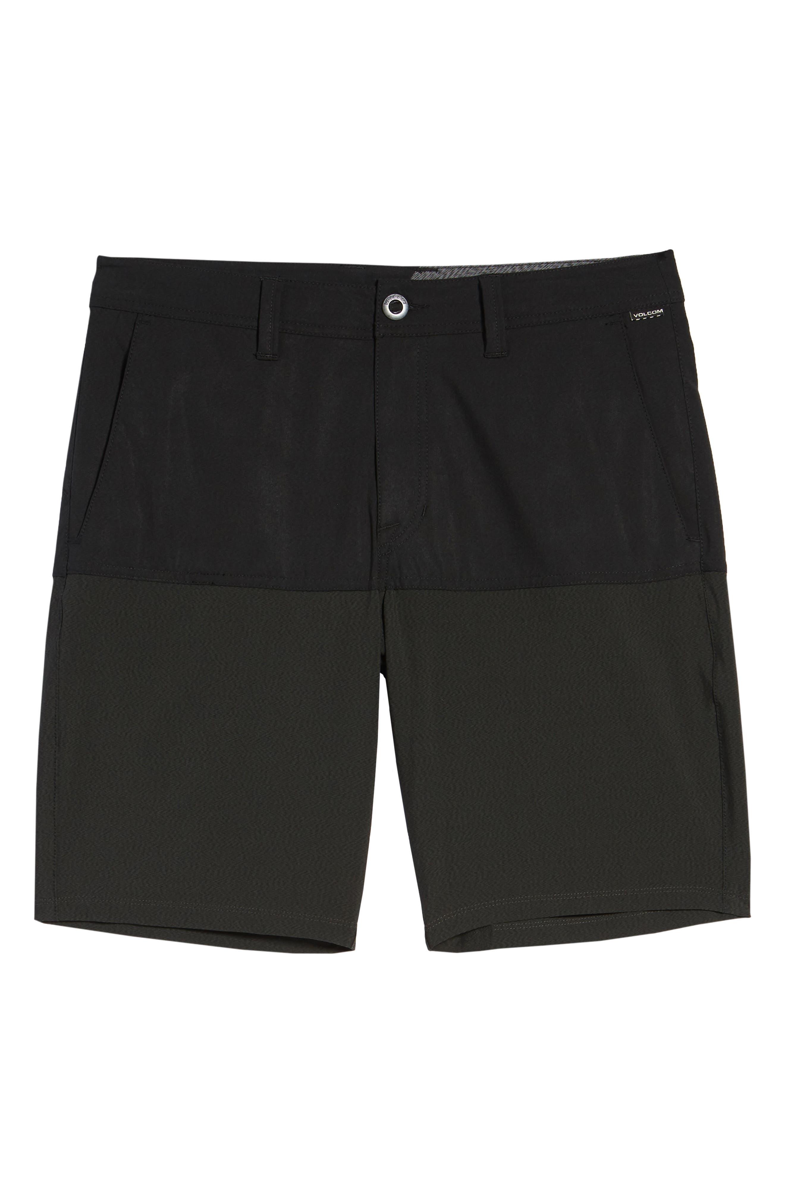 Surf 'n Turf Block Hybrid Shorts,                             Alternate thumbnail 6, color,                             Black