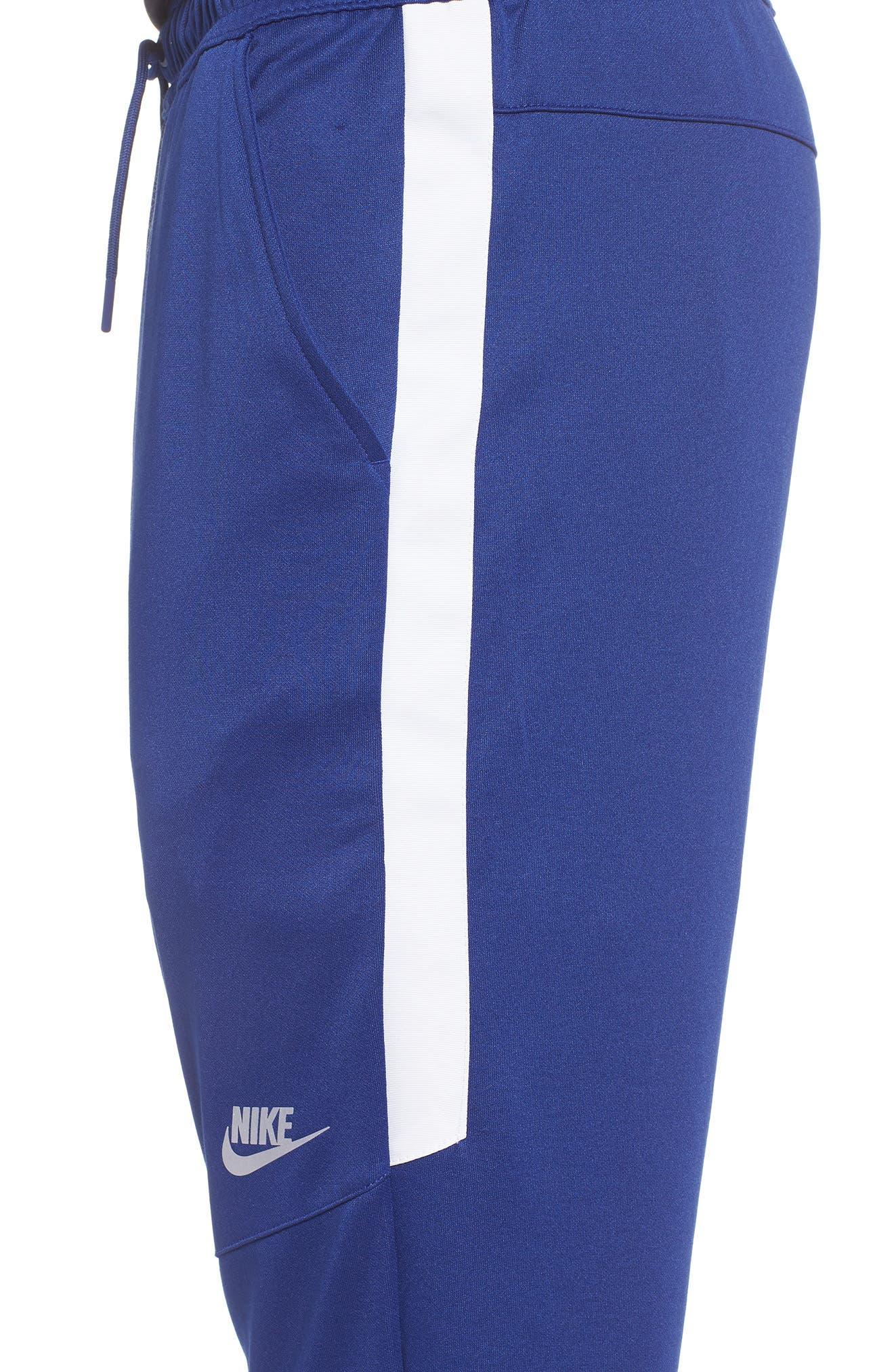 Tribute Jogger Pants,                             Alternate thumbnail 4, color,                             Deep Royal Blue/ White/ White
