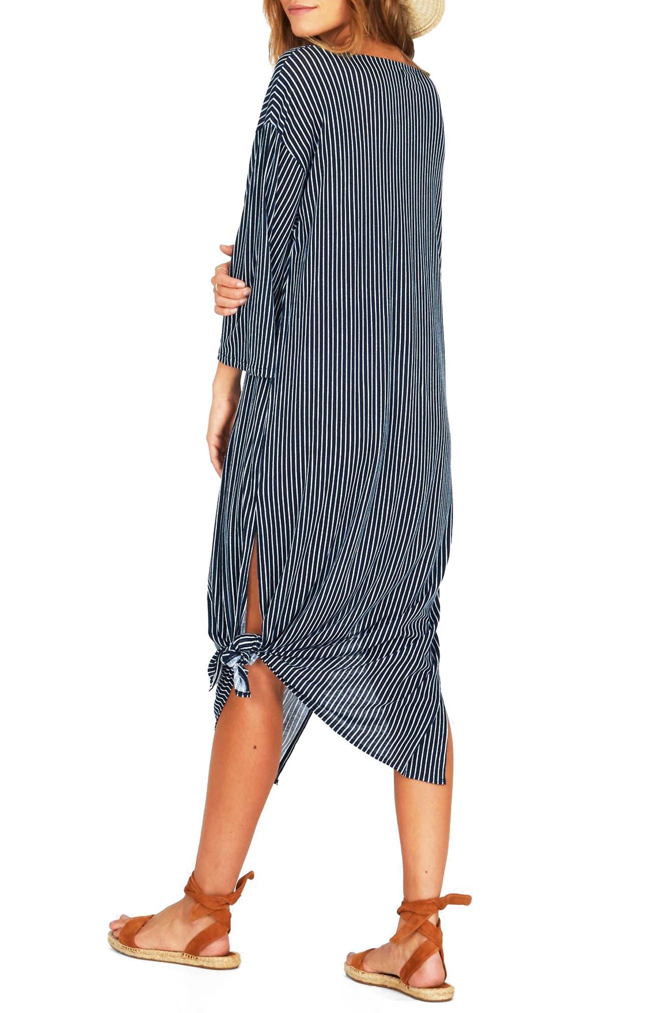 Morning Fog Midi Dress,                             Alternate thumbnail 4, color,                             Dark Navy