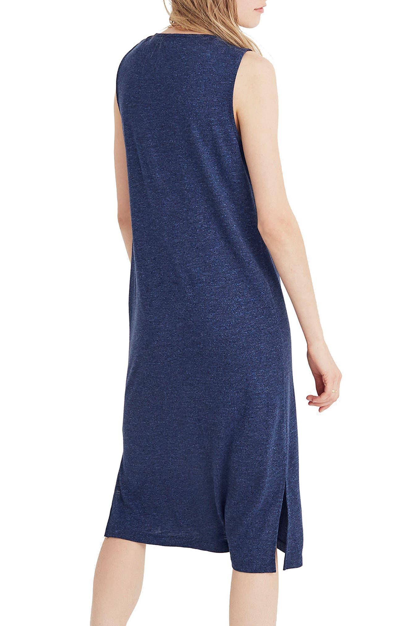 V-Neck Jersey Tank Dress,                             Alternate thumbnail 2, color,                             Heather Caspian