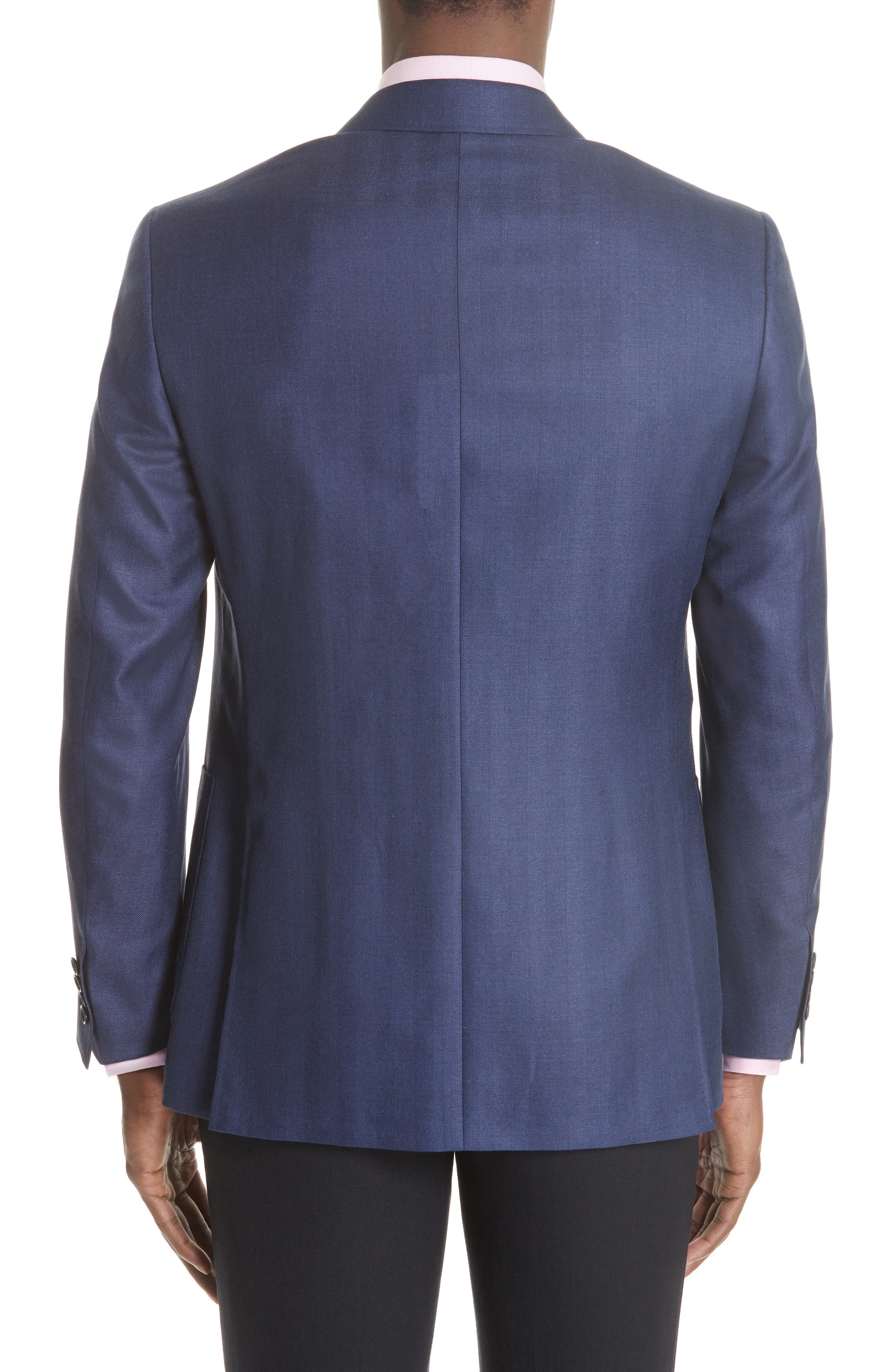 Venezia Classic Fit Herringbone Wool Blend Sport Coat,                             Alternate thumbnail 2, color,                             Blue