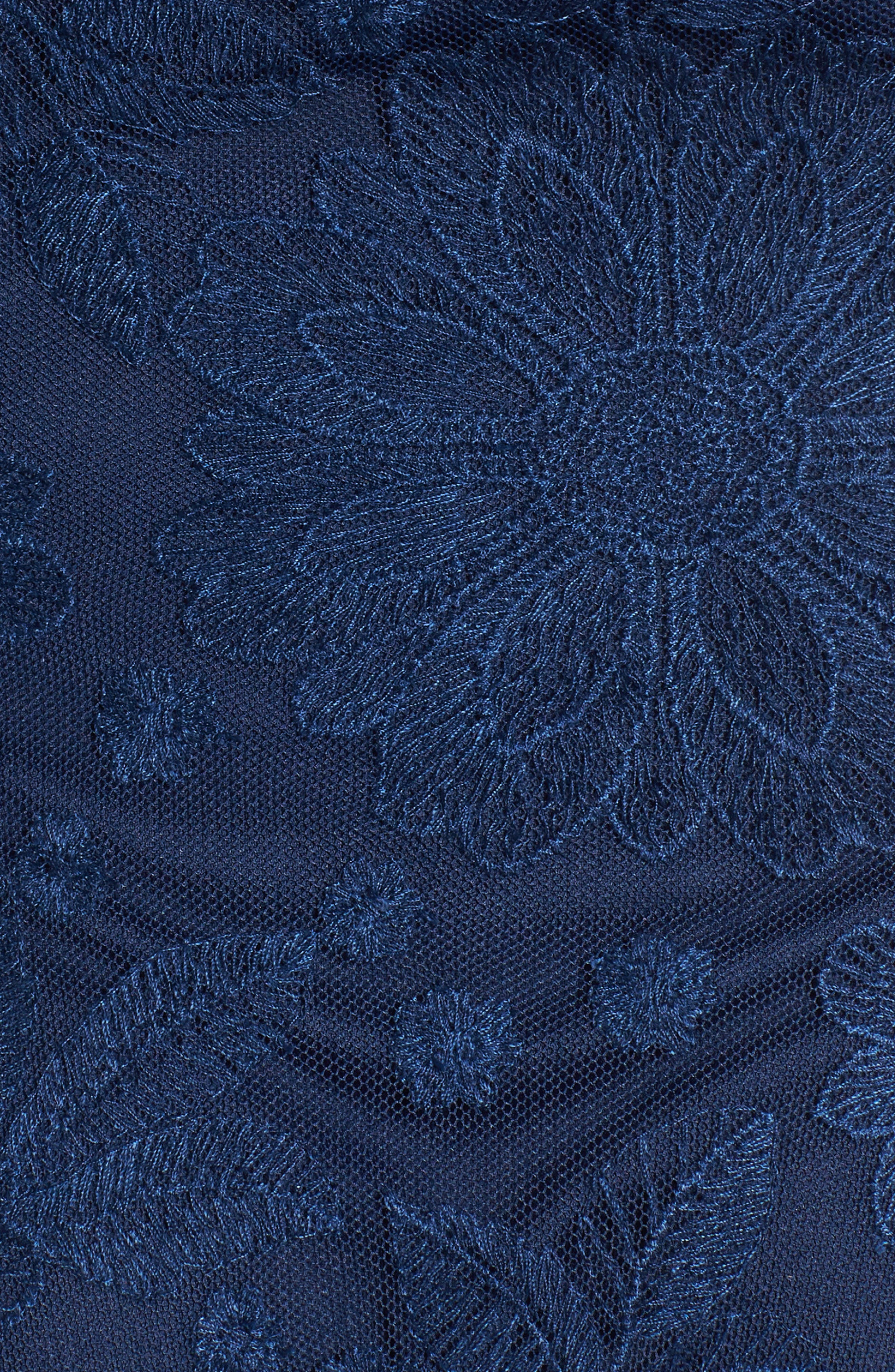 Abby Embroidered Bodysuit,                             Alternate thumbnail 4, color,                             Navy Lace