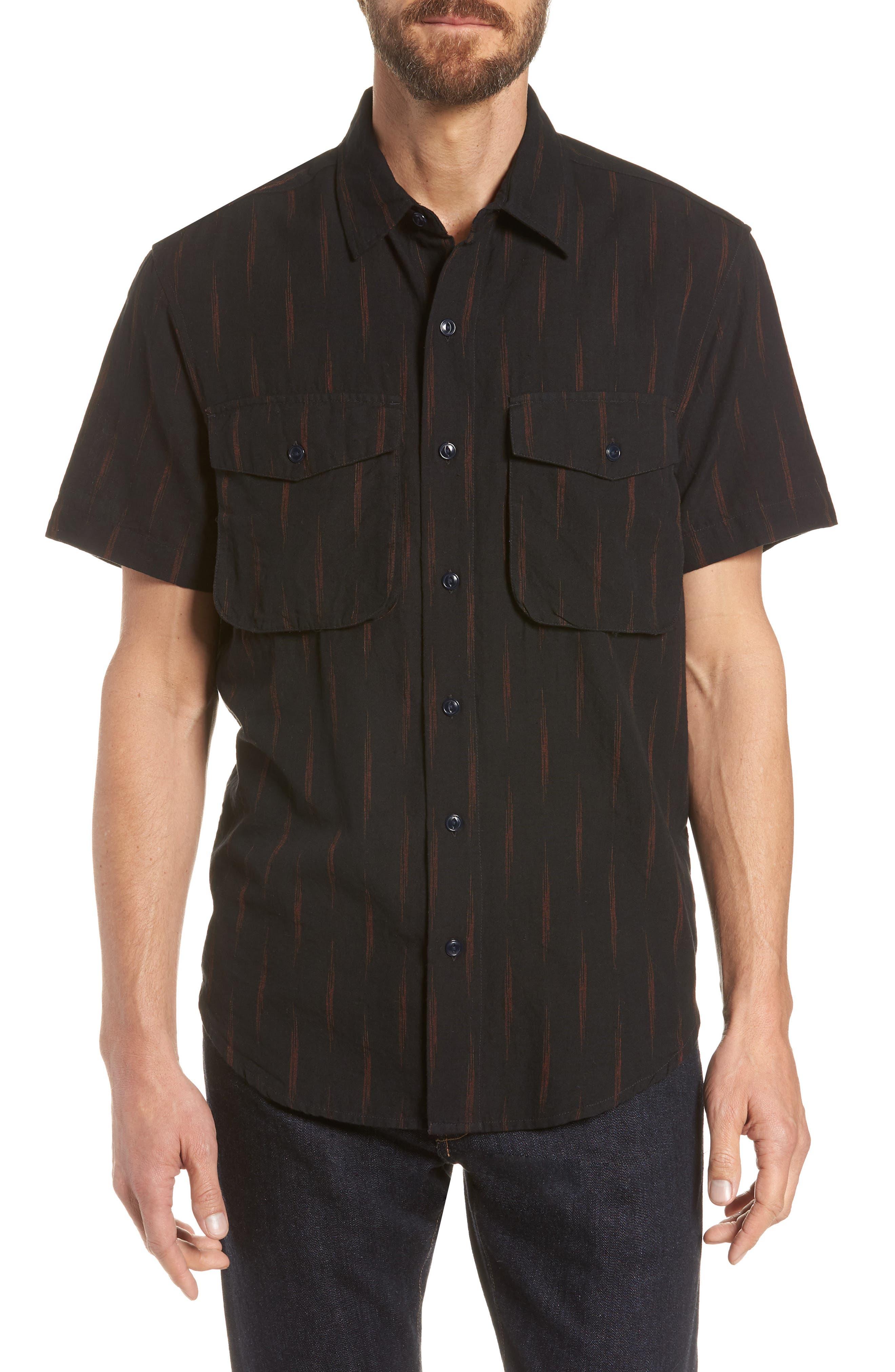Limited Edition Slim Fit Short Sleeve Sport Shirt,                         Main,                         color, Rio Grande - Gold Rush