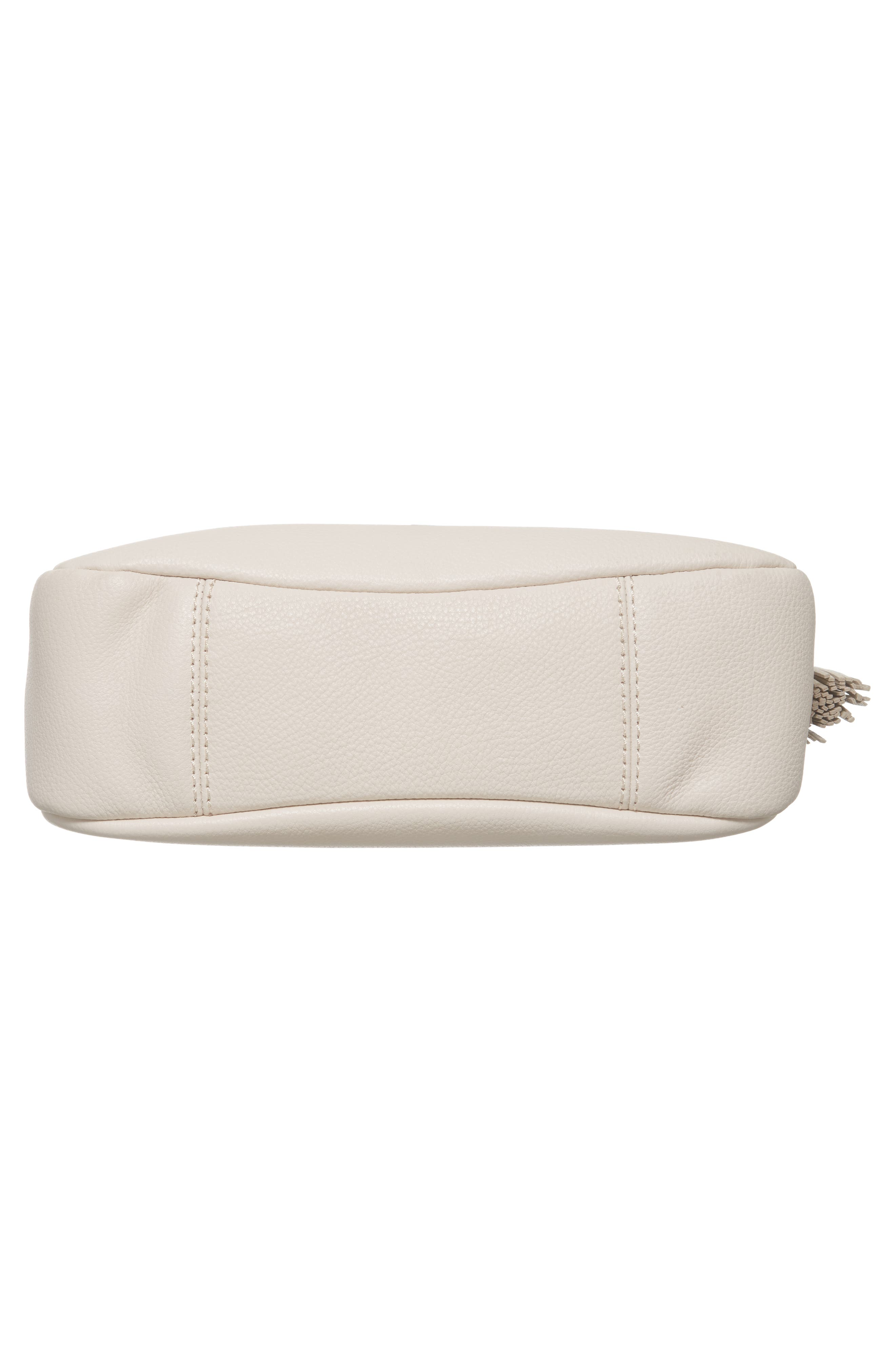 kingston drive - shannon leather shoulder bag,                             Alternate thumbnail 6, color,                             Bleach Bone