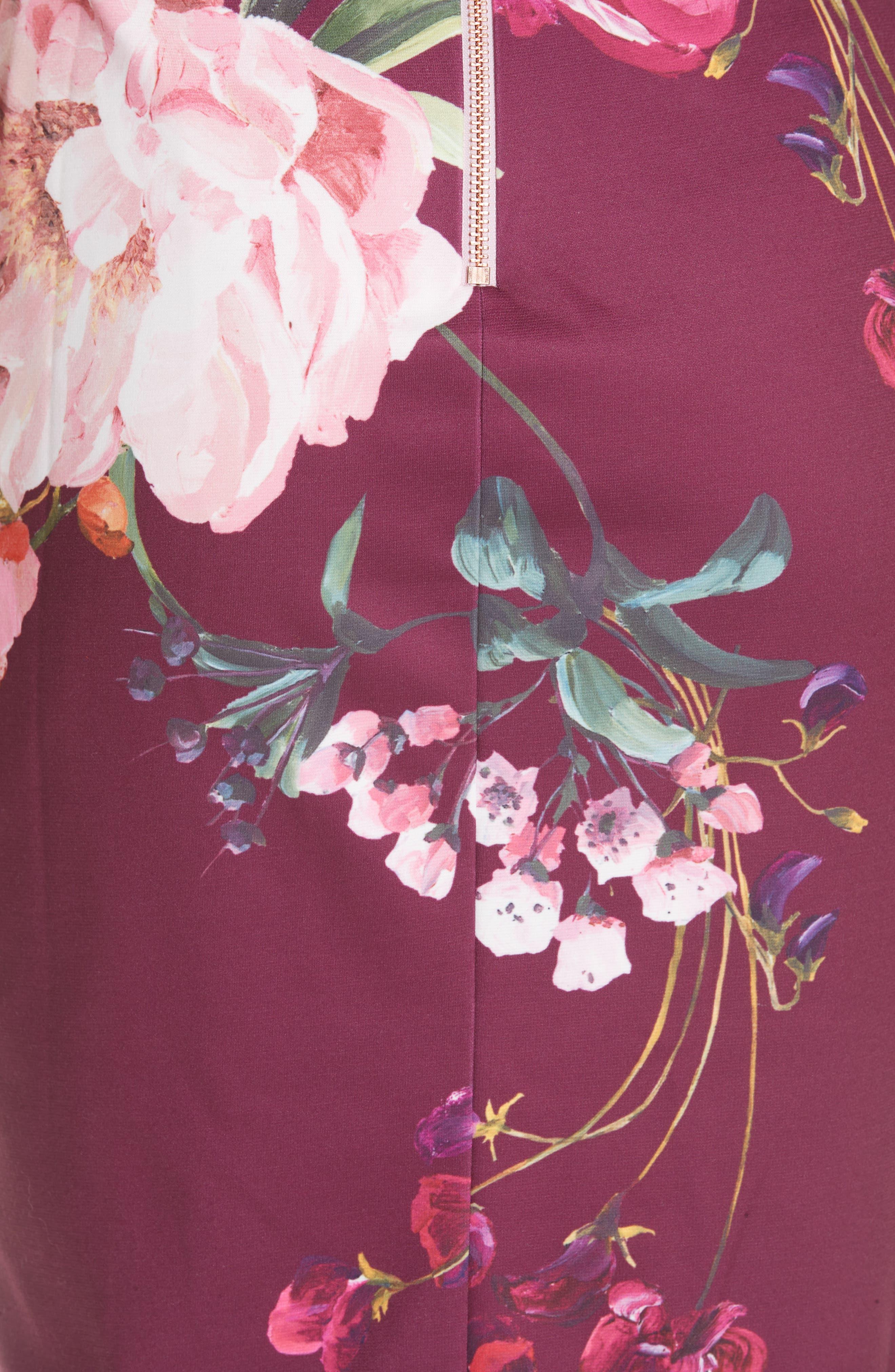 Irlina Serenity Sheath Dress,                             Alternate thumbnail 5, color,                             Lilac
