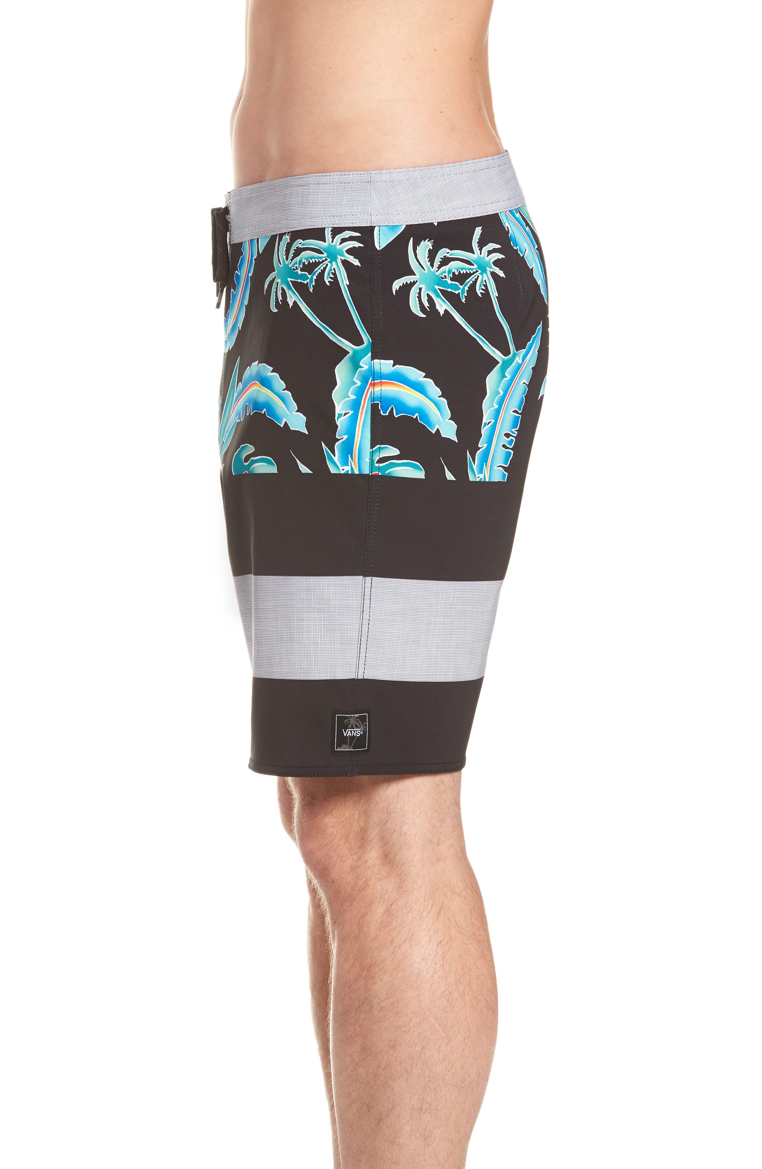Era Board Shorts,                             Alternate thumbnail 4, color,                             Black Pit Stop Floral