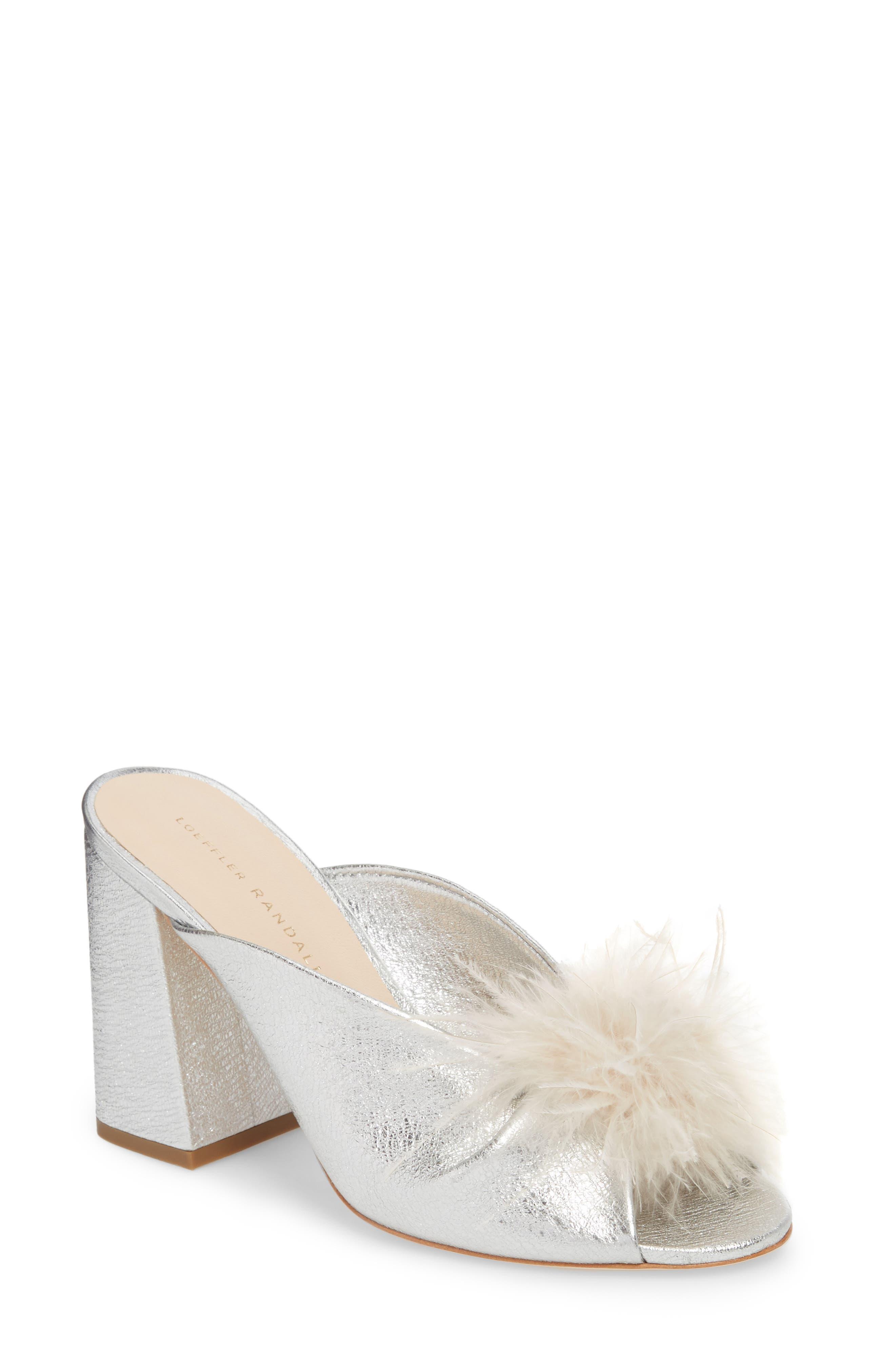 Laurel Slide Sandal,                             Main thumbnail 1, color,                             Silver