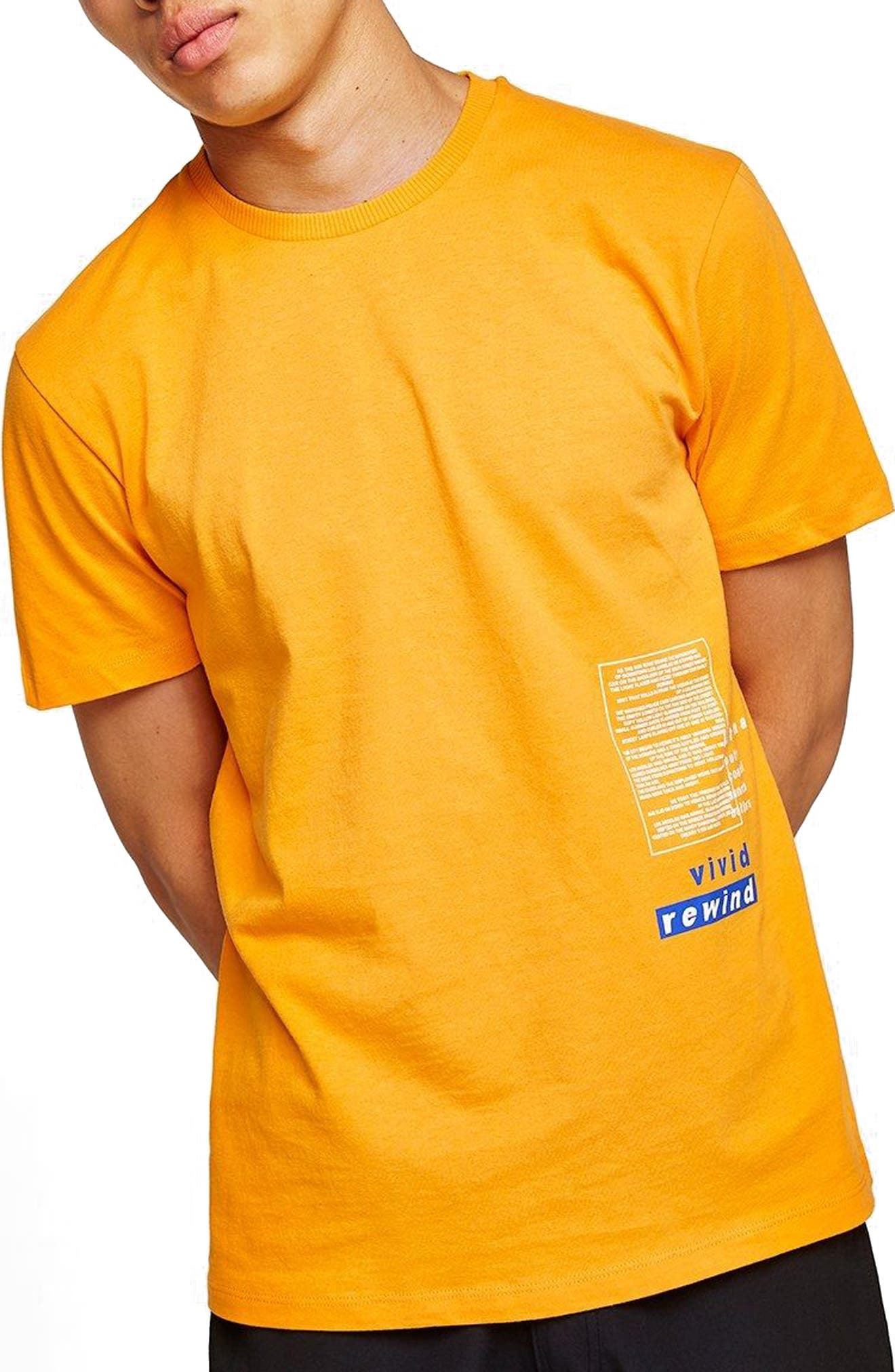 Oversize Refresh Graphic T-Shirt,                         Main,                         color, Orange