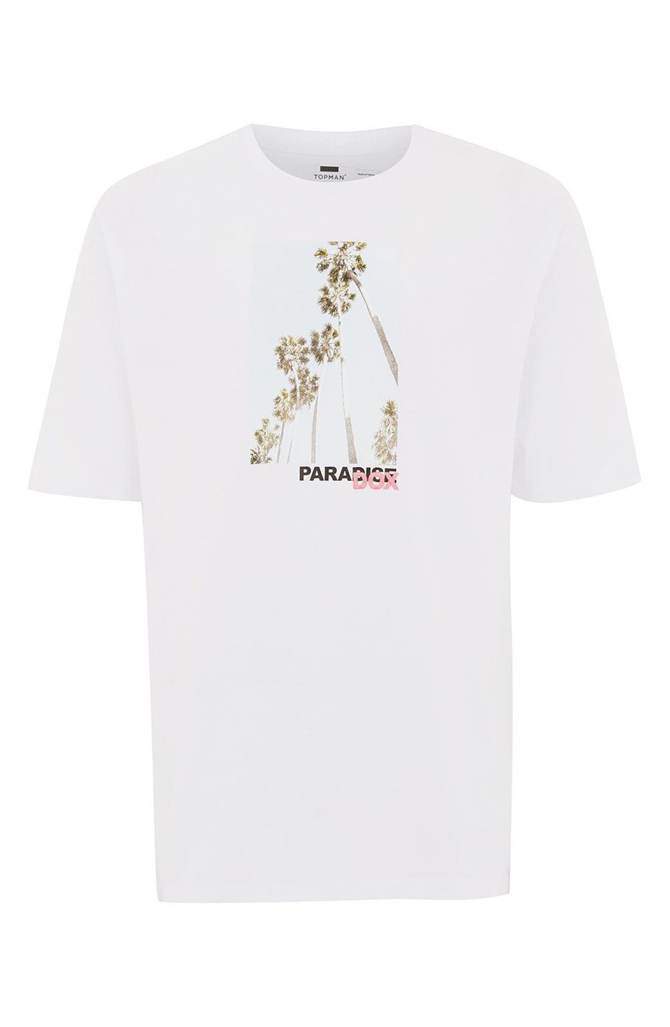 Paradox Graphic T-Shirt,                             Alternate thumbnail 3, color,                             White Multi