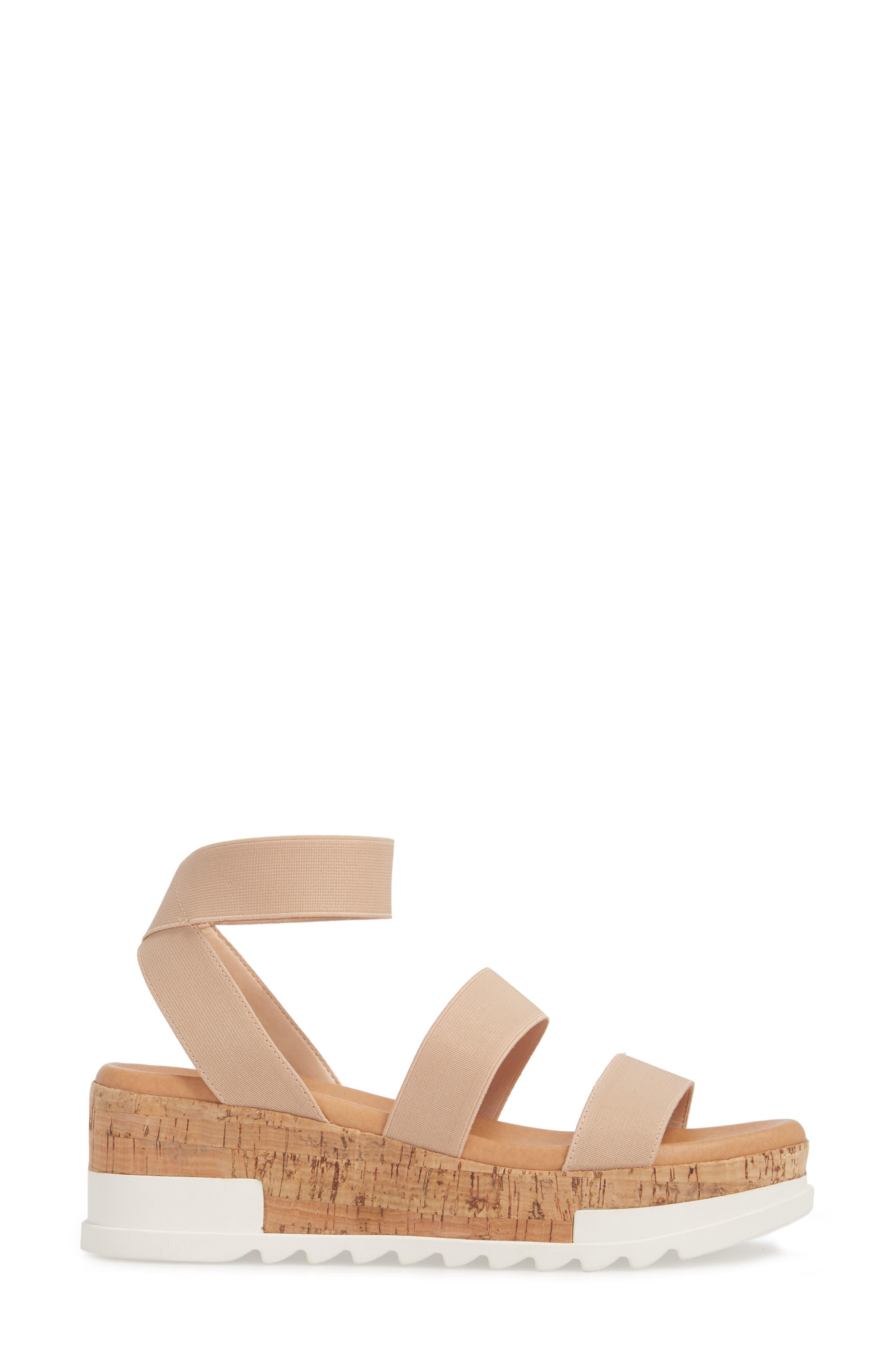 Bandi Platform Wedge Sandal,                             Alternate thumbnail 3, color,                             Blush