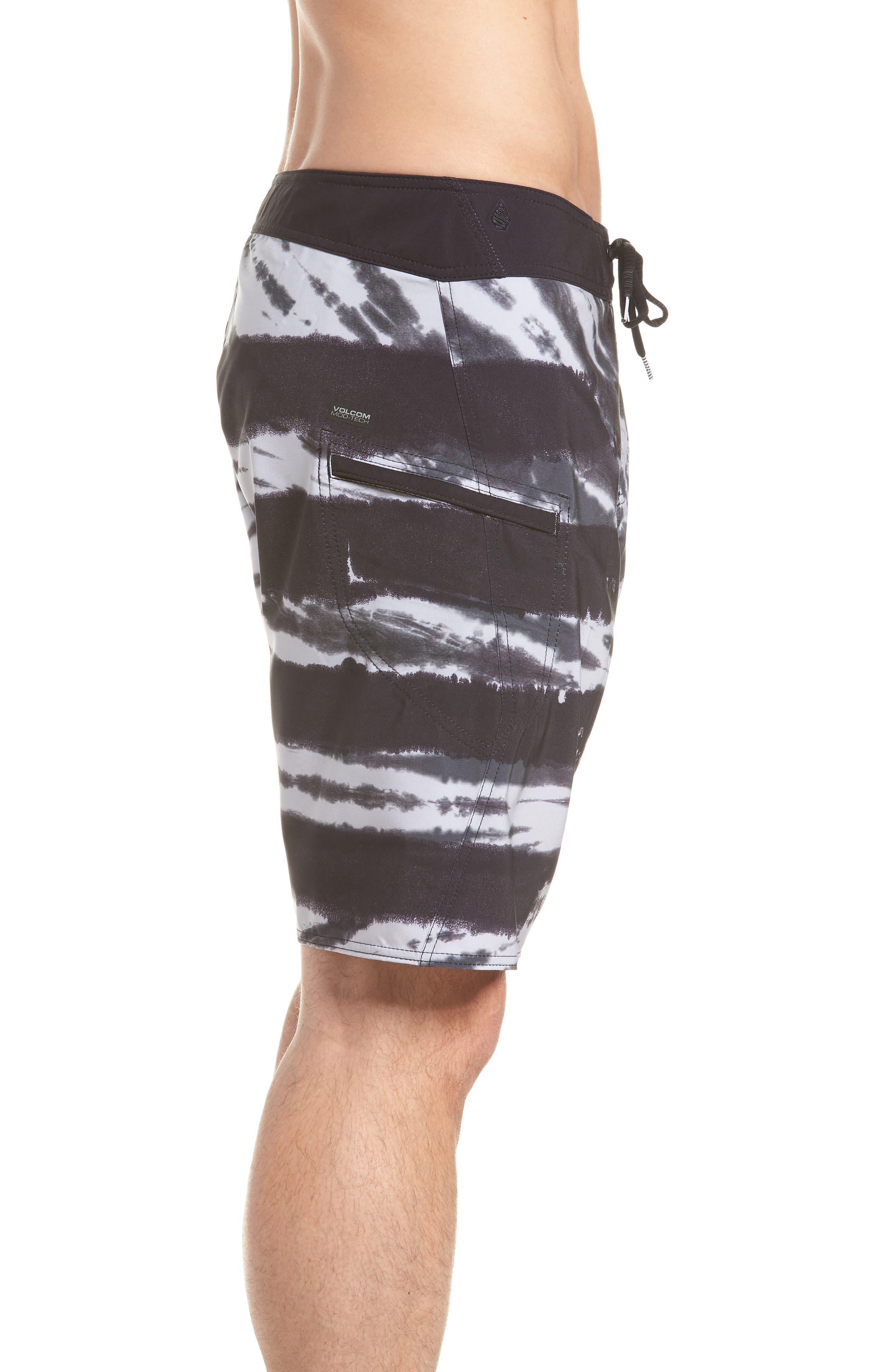Peace Stoney Board Shorts,                             Alternate thumbnail 4, color,                             Grey