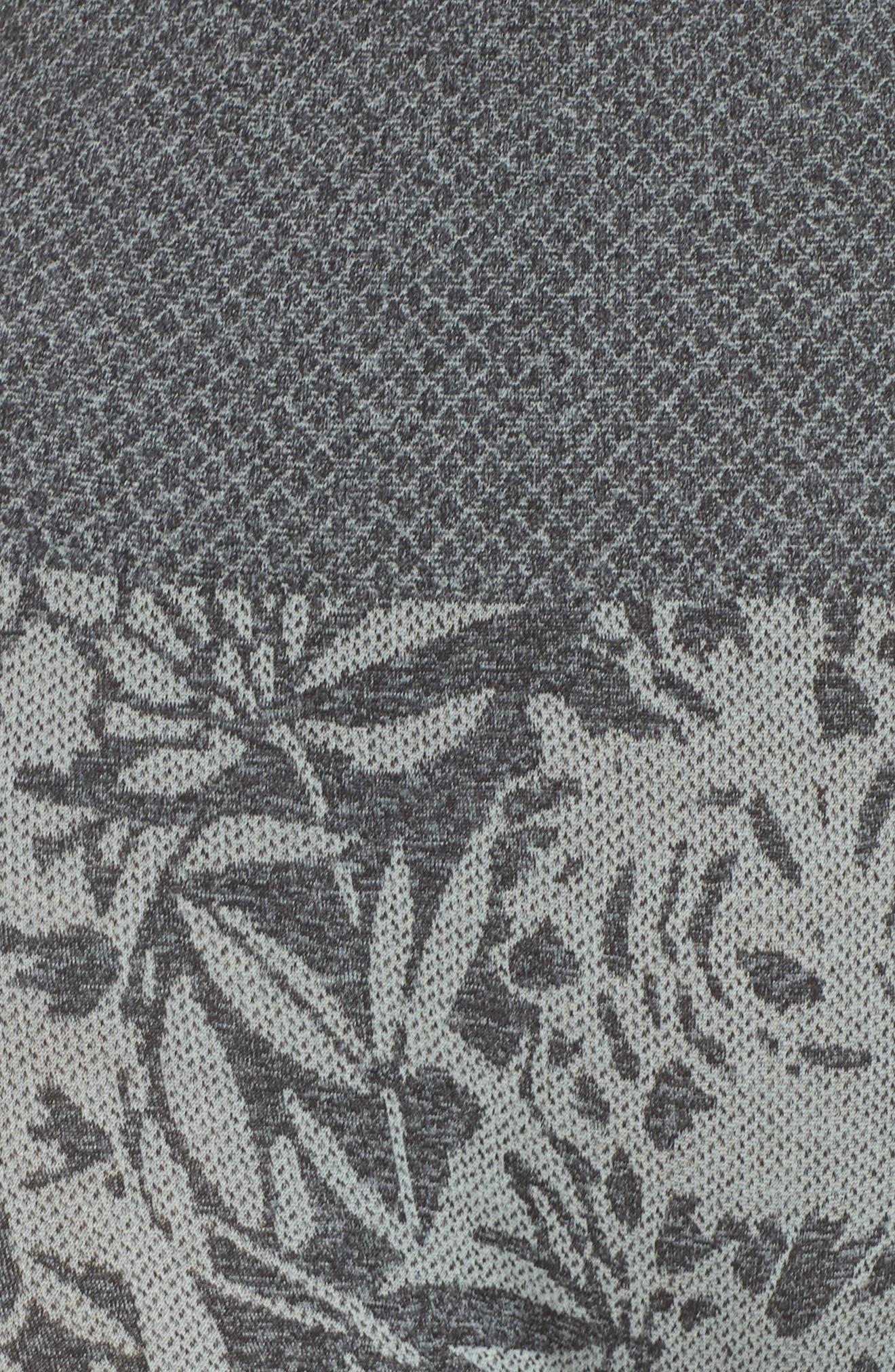 Pathway Capri Leggings,                             Alternate thumbnail 6, color,                             Blue Flower/ Black Melange