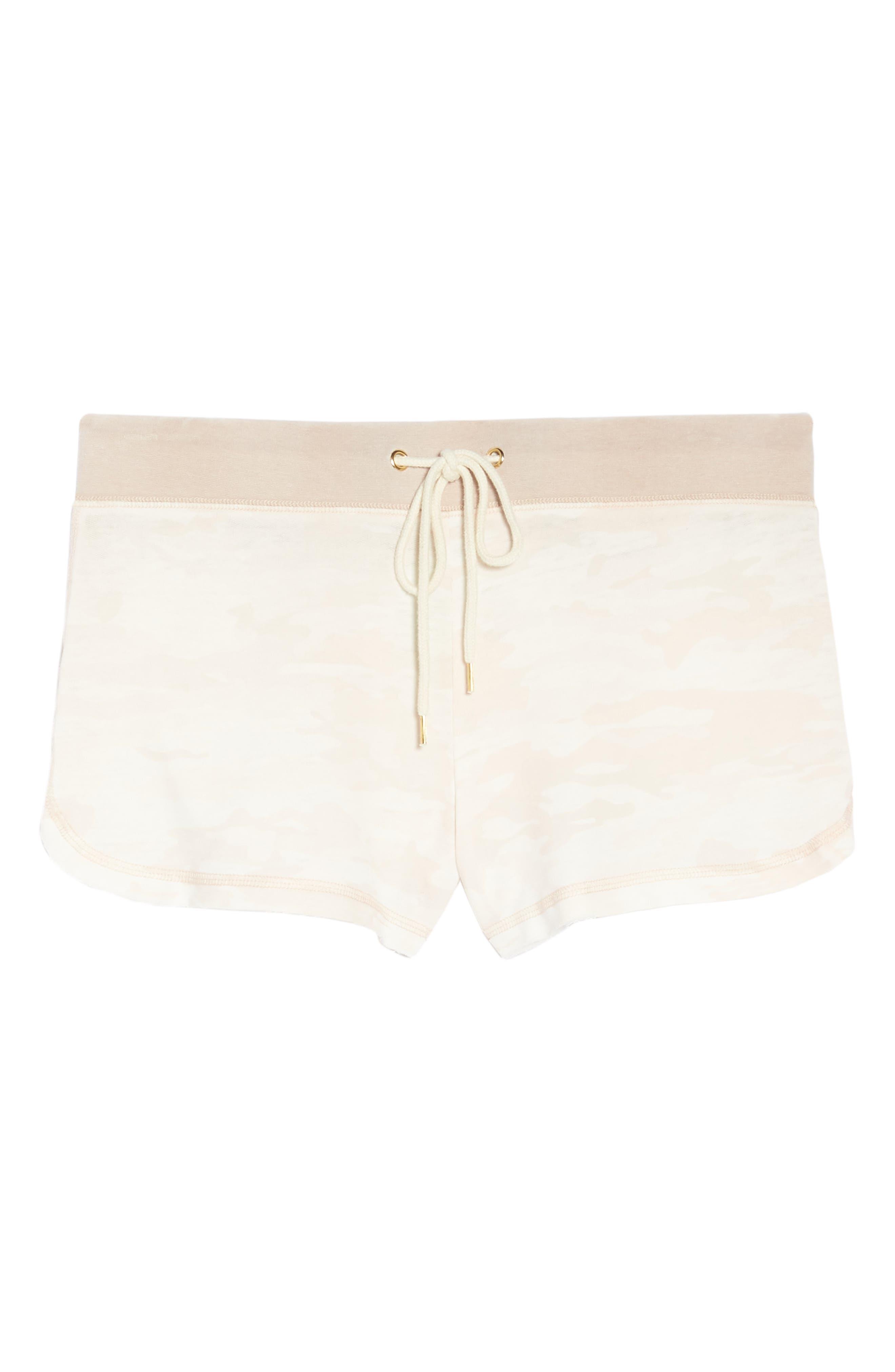 Burnout Lounge Shorts,                             Alternate thumbnail 7, color,                             Pink Camo