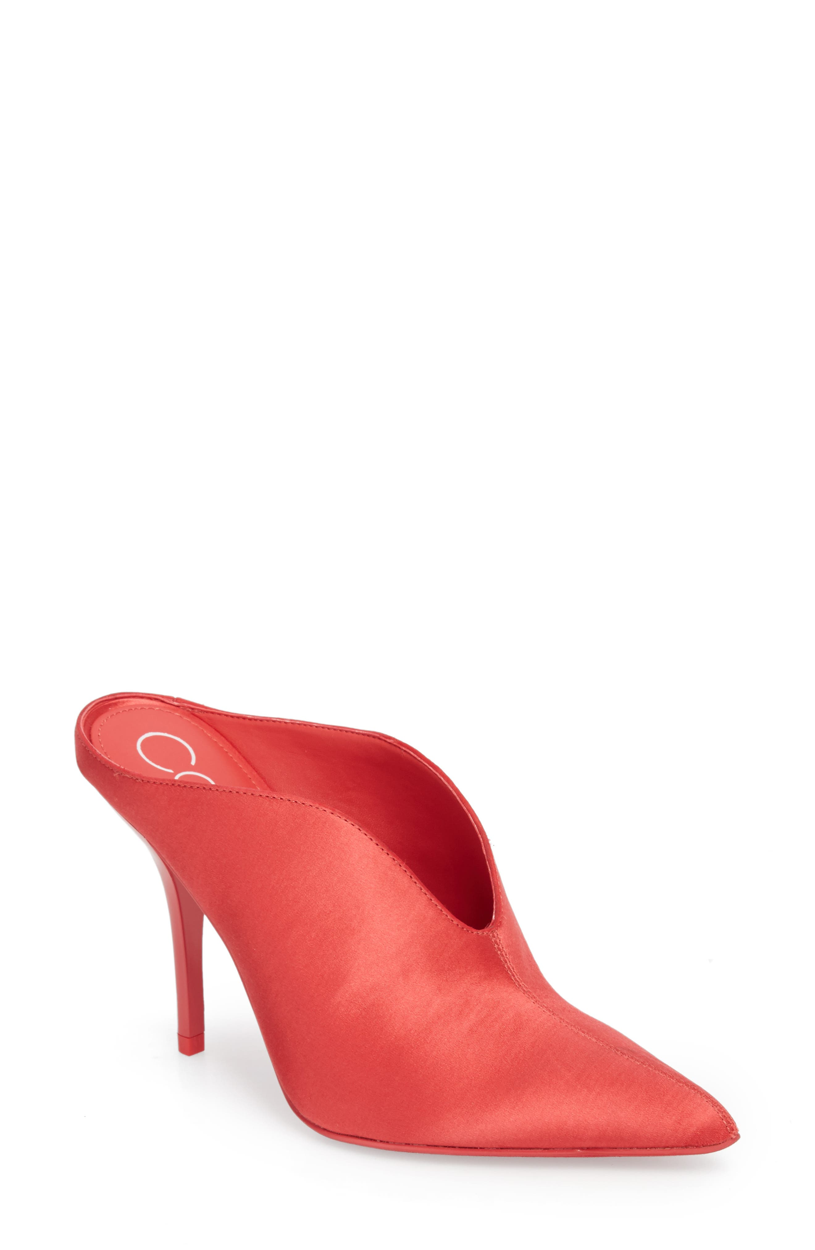 Mallie Pointy Toe Mule,                             Main thumbnail 1, color,                             Rose Quartz Fabric