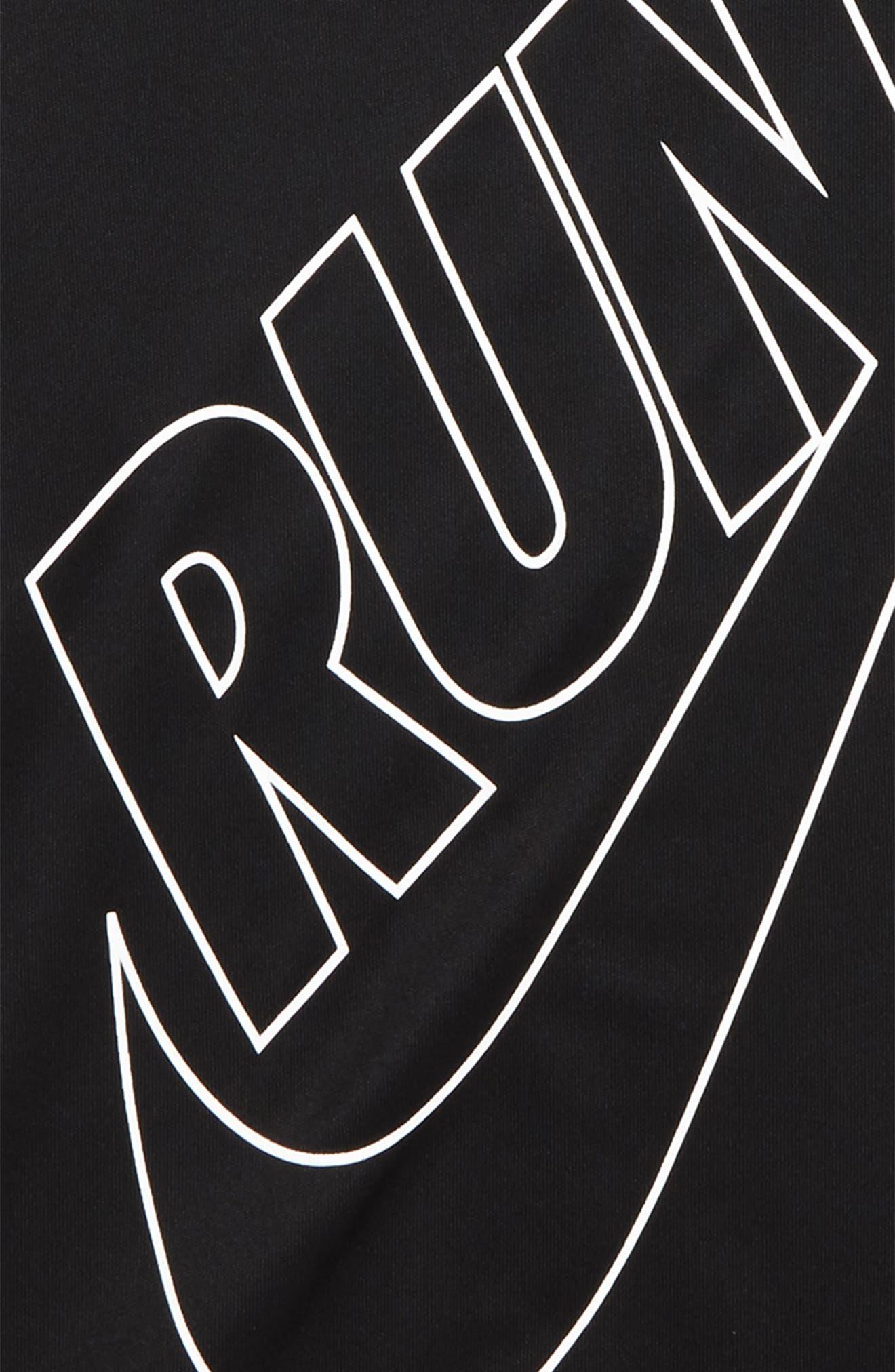 Dry Miler GFX Running Shirt,                             Alternate thumbnail 2, color,                             Black