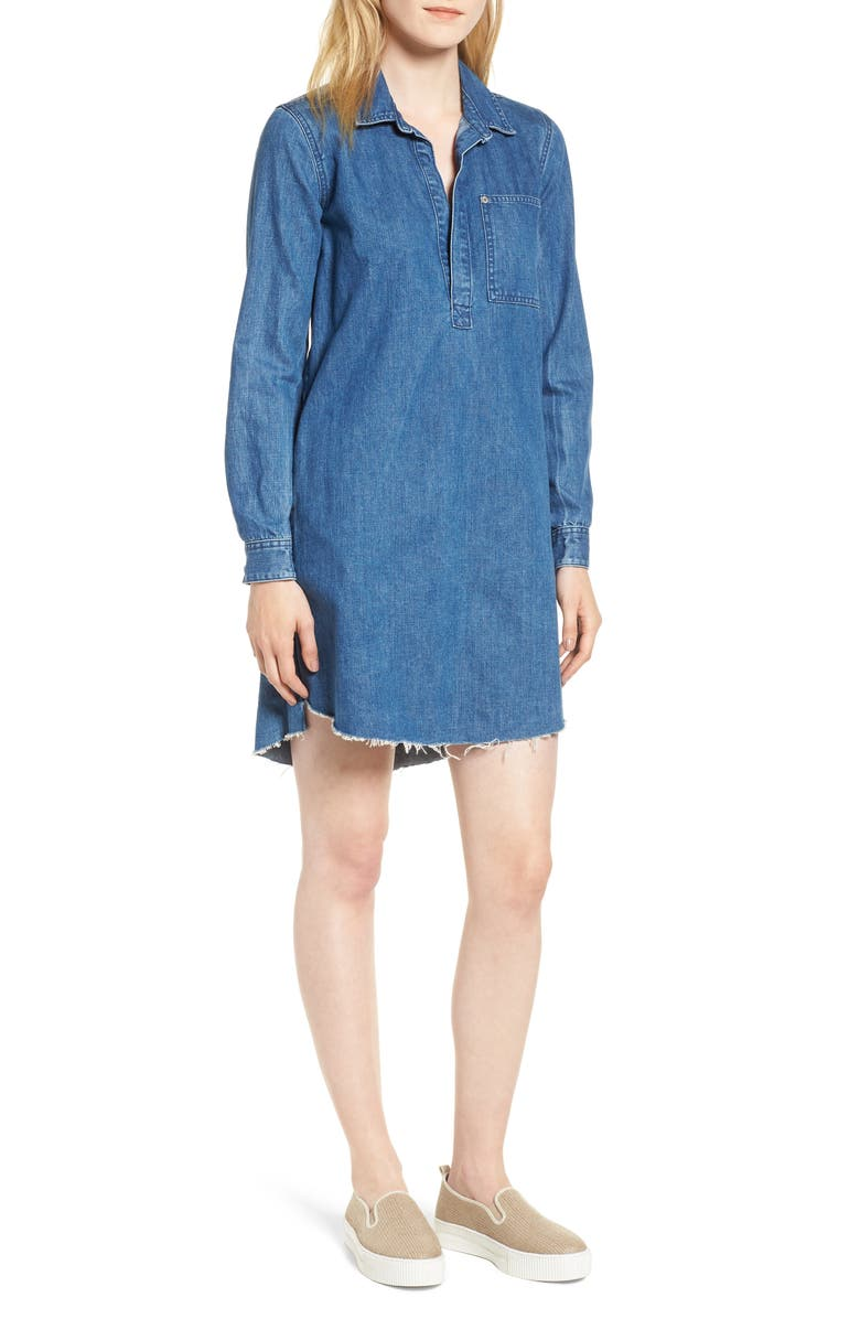 Denim Popover Shift Dress