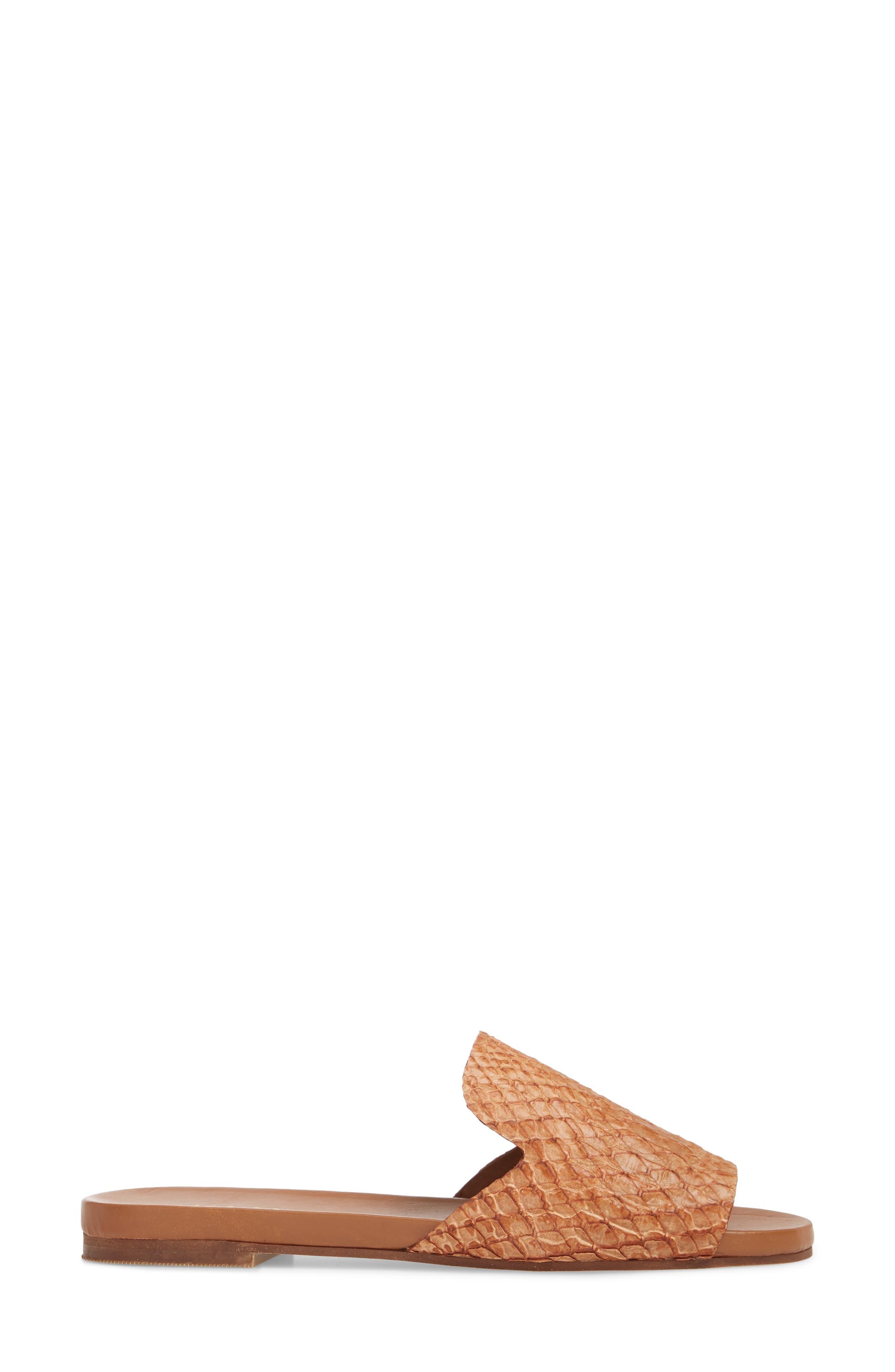 Leticia Loafer Mule Sandal,                             Alternate thumbnail 3, color,                             Honey