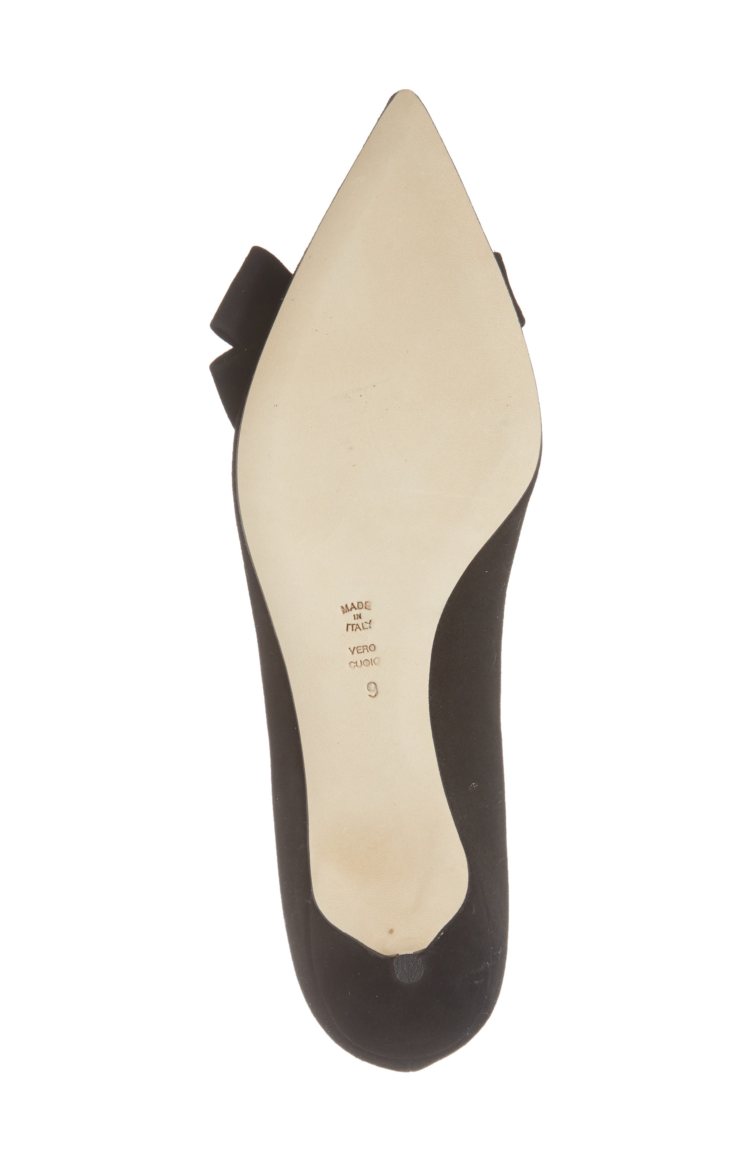 Butter Bliss Pointy Toe Pump,                             Alternate thumbnail 5, color,                             Black Suede