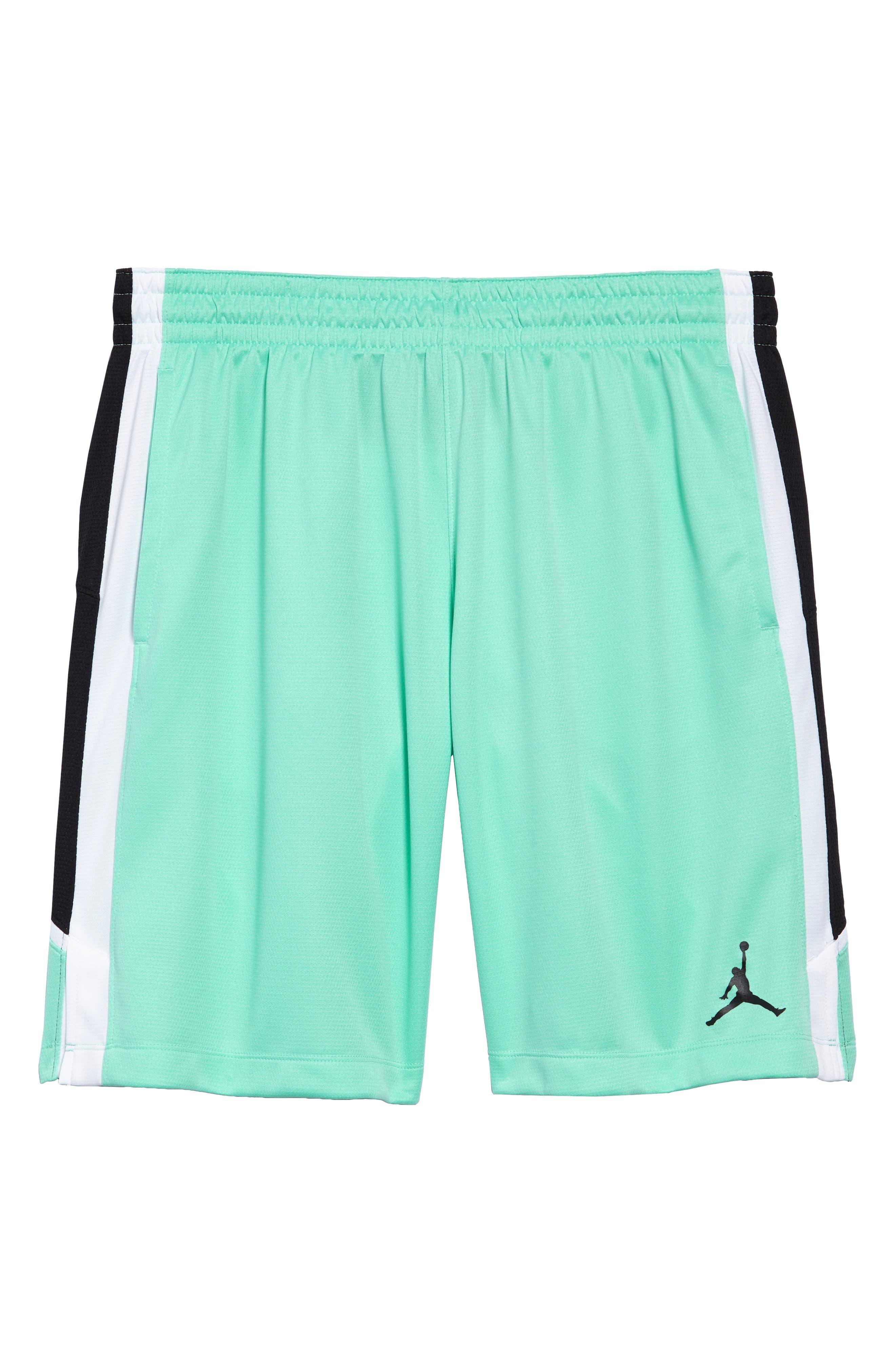 Jordan Dry Flight Shorts,                             Alternate thumbnail 6, color,                             Emerald Rise/ Black/ White