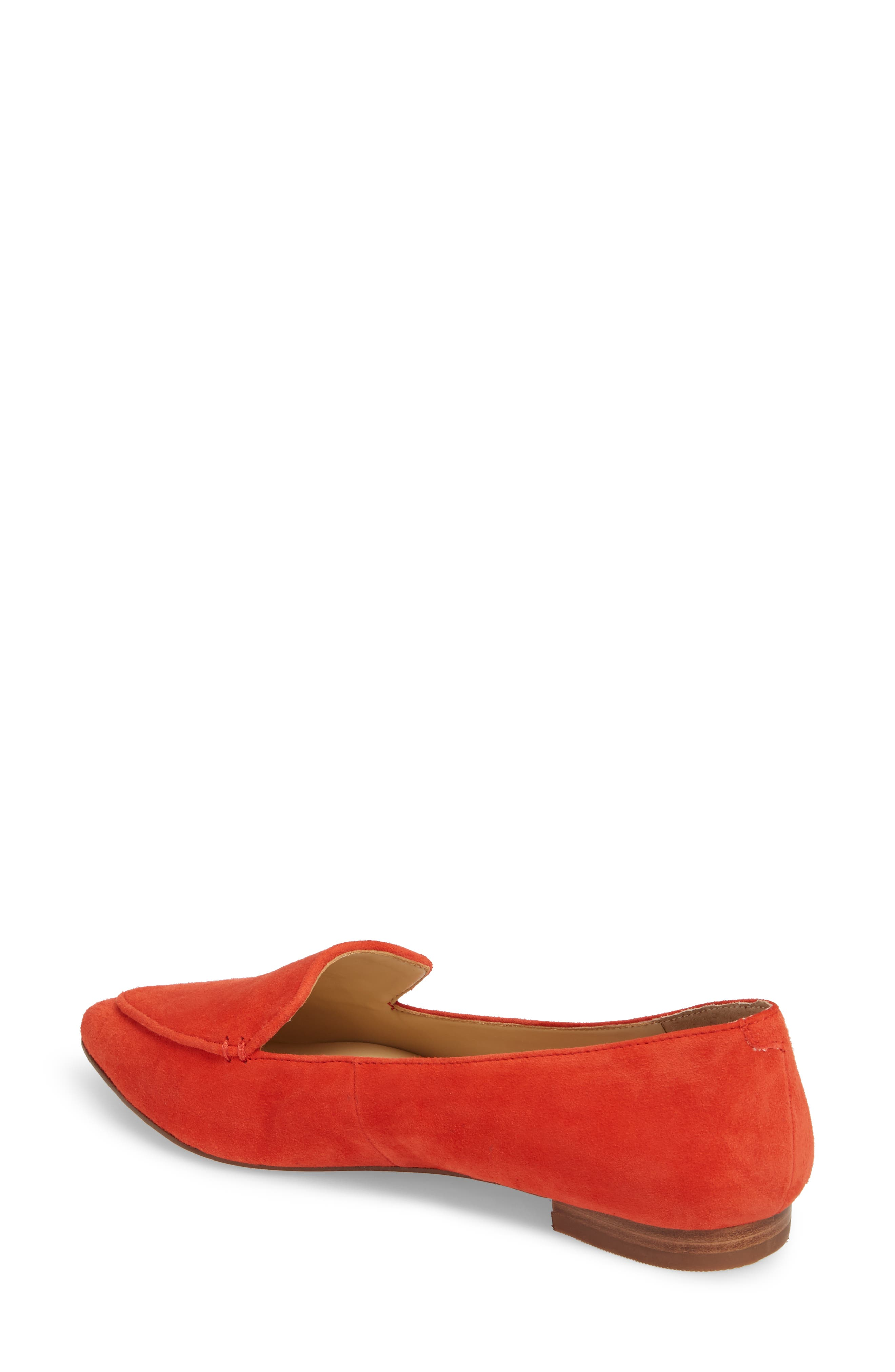 'Cammila' Pointy Toe Loafer,                             Alternate thumbnail 2, color,                             Deep Coral