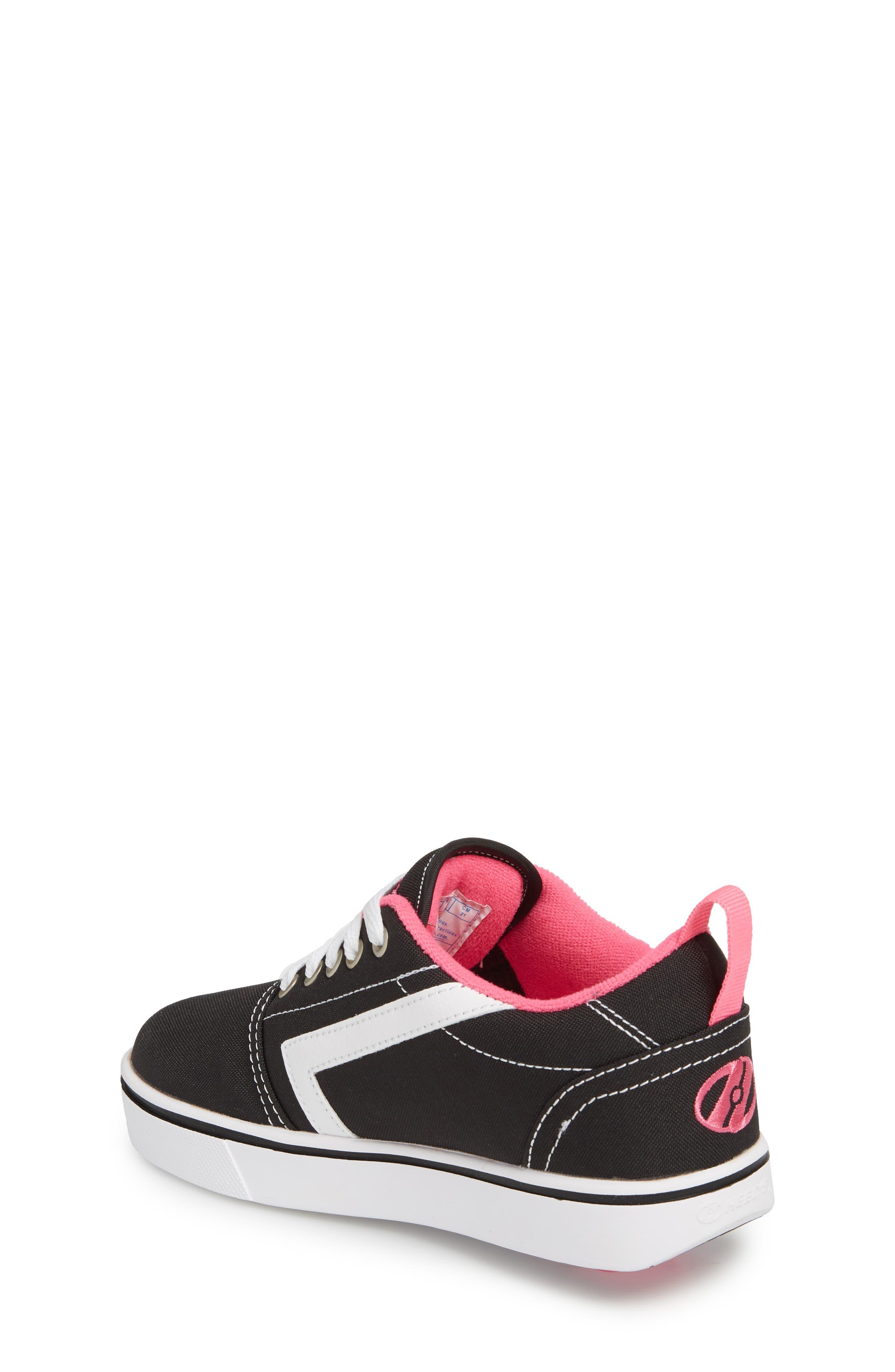 GR8 Pro Wheeled Sneaker,                             Alternate thumbnail 2, color,                             Black/ White/ Hot Pink