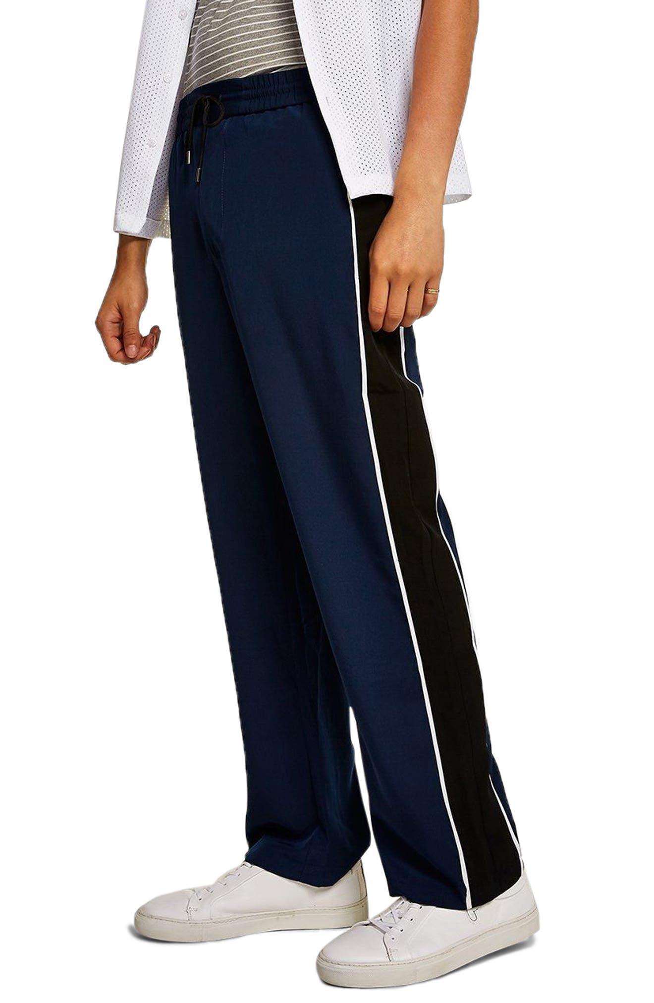 Side Panel Track Pants,                         Main,                         color, Navy Blue
