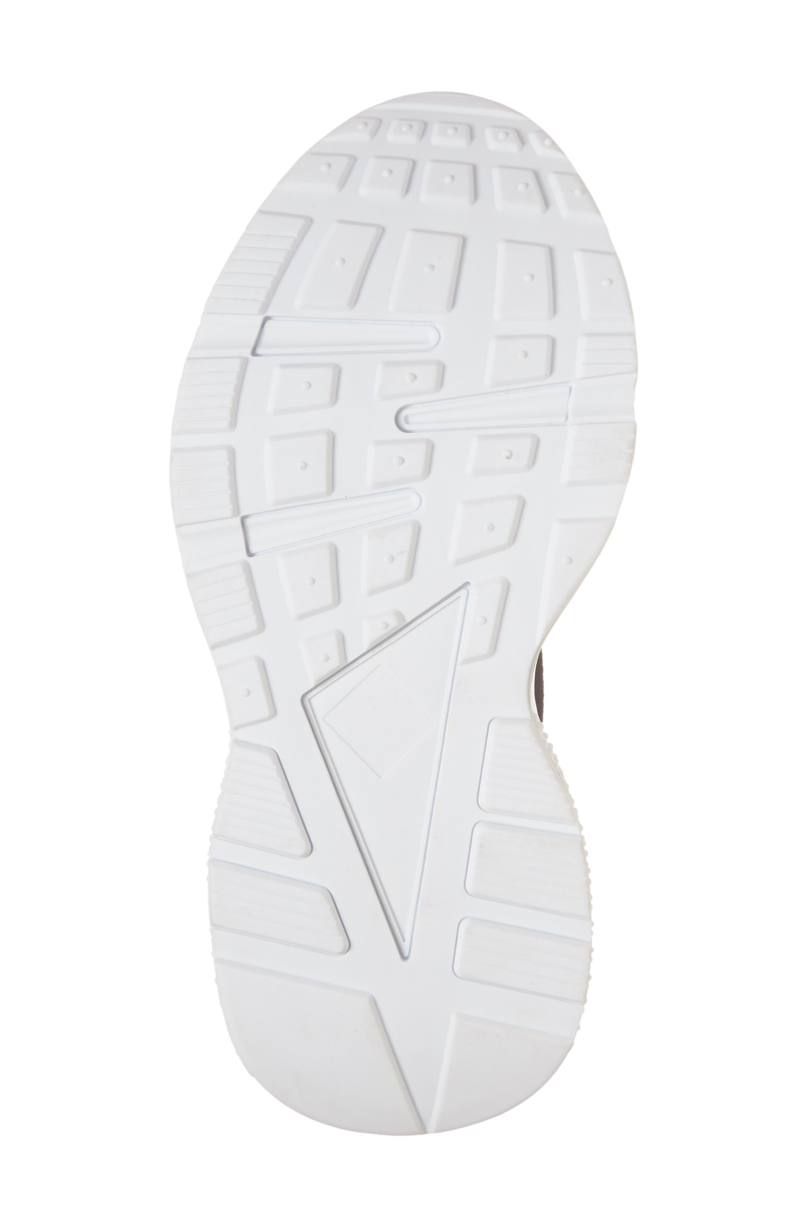 Lunix Sock Sneaker,                             Alternate thumbnail 6, color,                             Black/ White Leather
