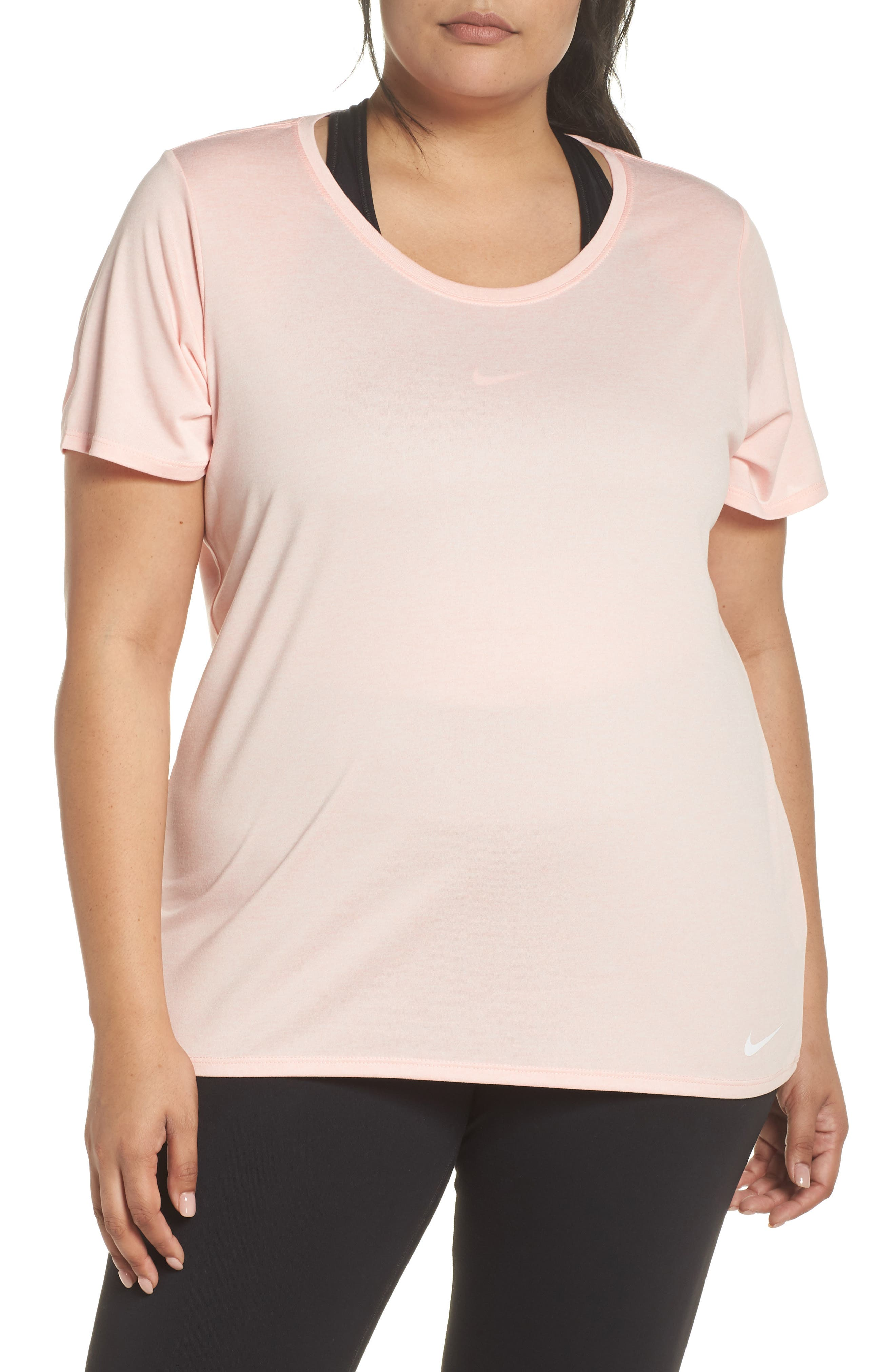 Dry Legend Training Tee,                             Main thumbnail 1, color,                             Storm Pink/ White/ White