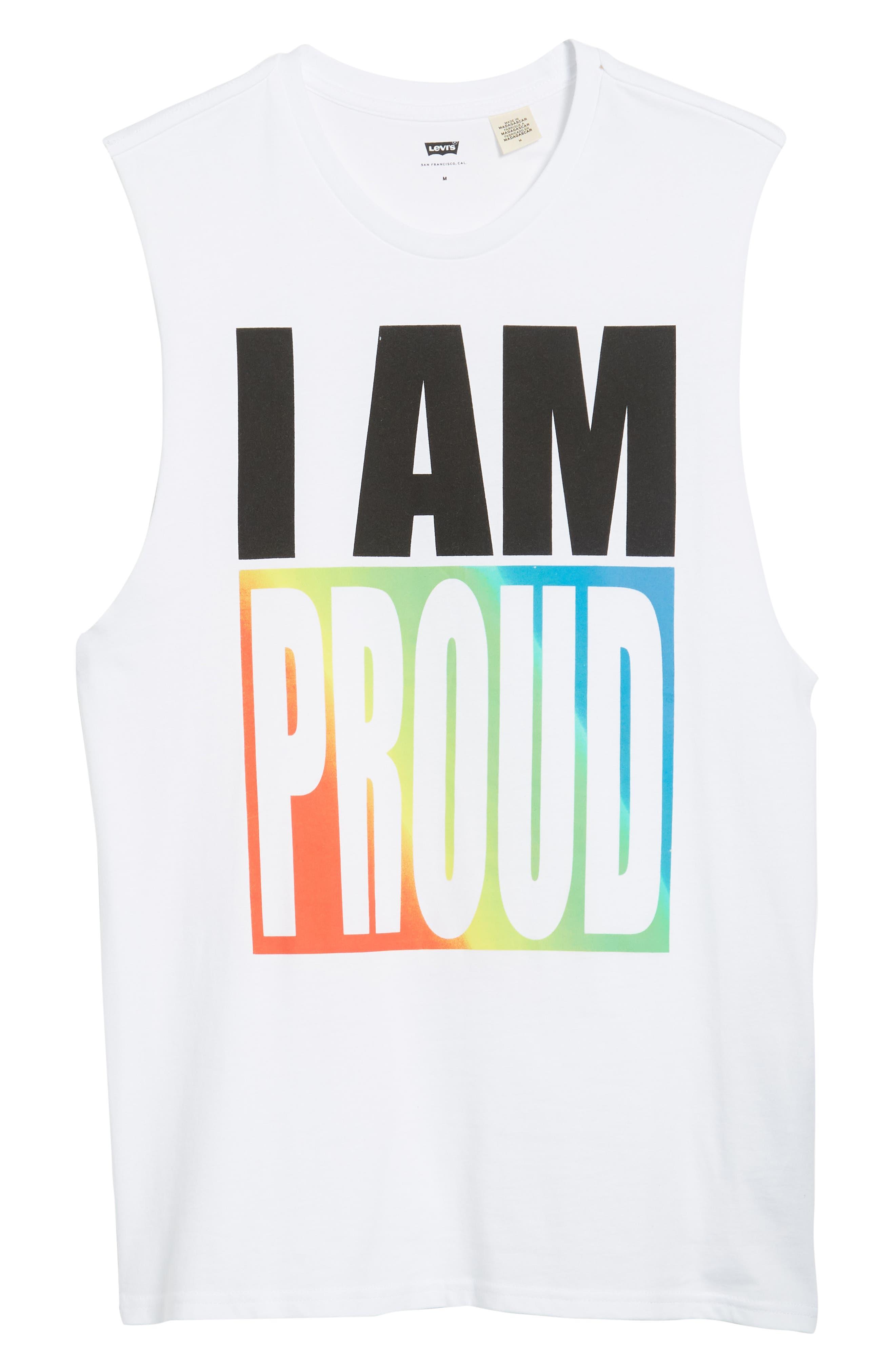 Community Sleeveless T-Shirt,                             Alternate thumbnail 6, color,                             I Am Rainbow Gradient White