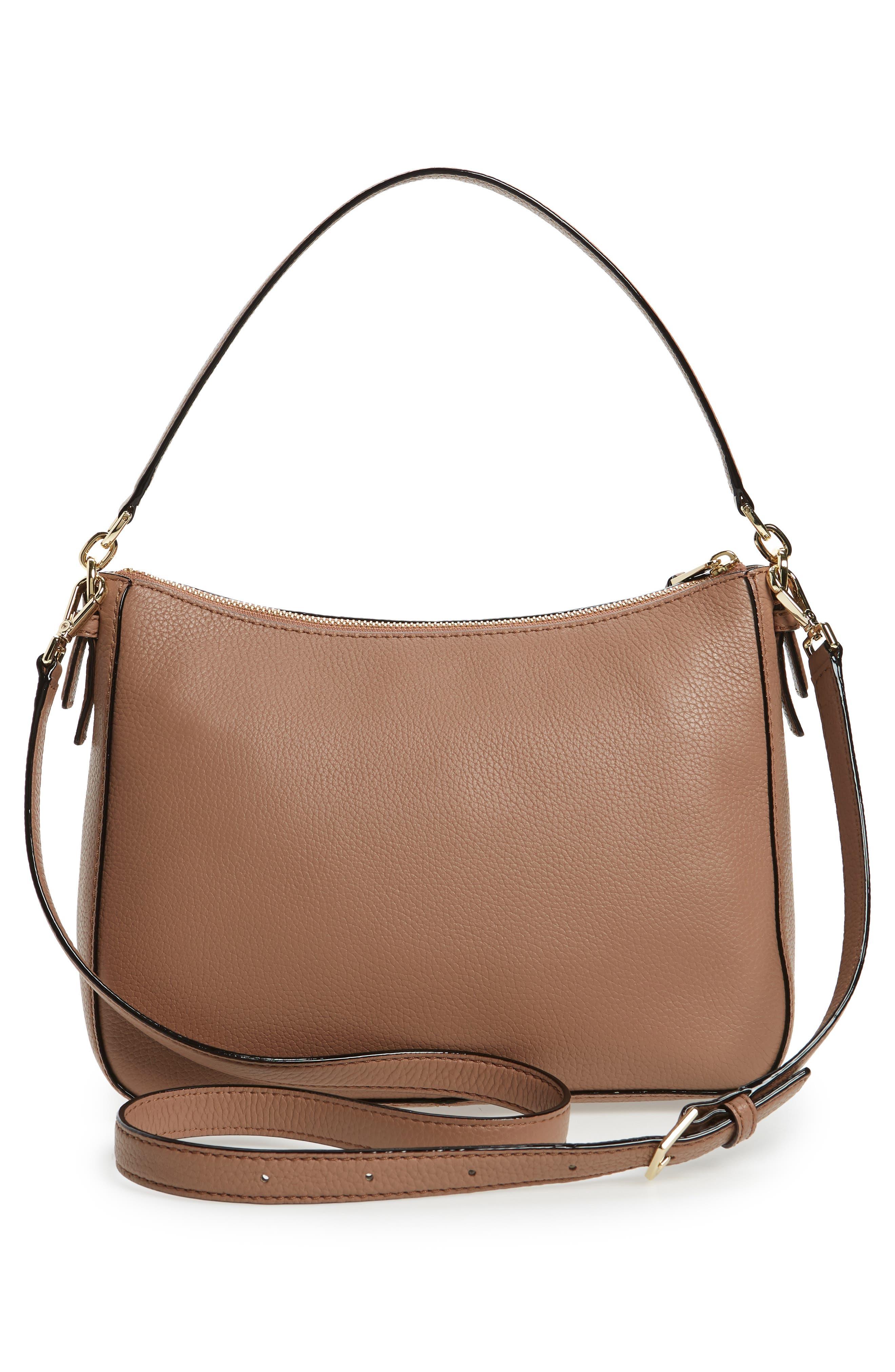 jackson street - colette leather satchel,                             Alternate thumbnail 3, color,                             Toasty