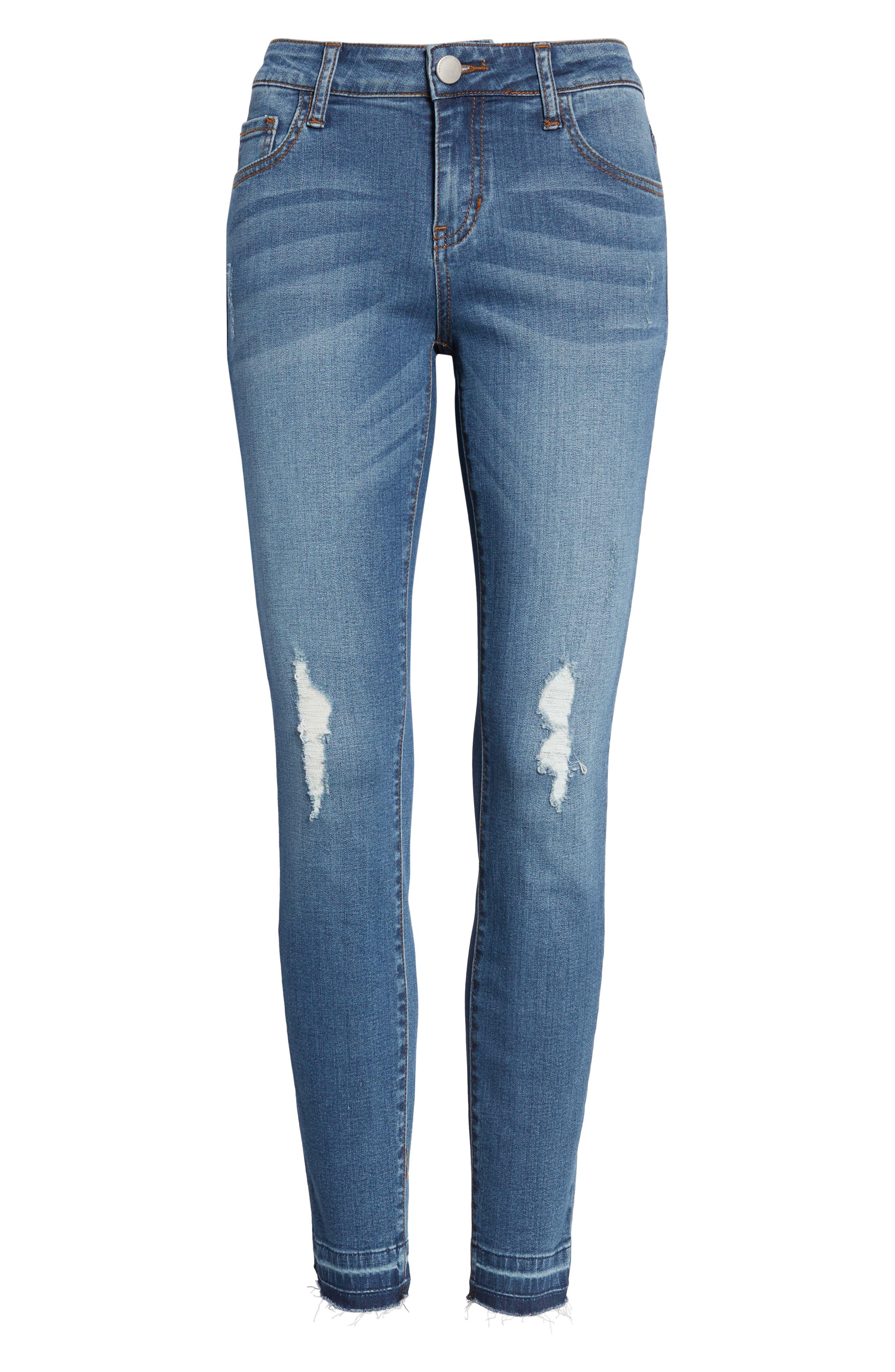 Release Hem Skinny Jeans,                             Alternate thumbnail 7, color,                             Pretty
