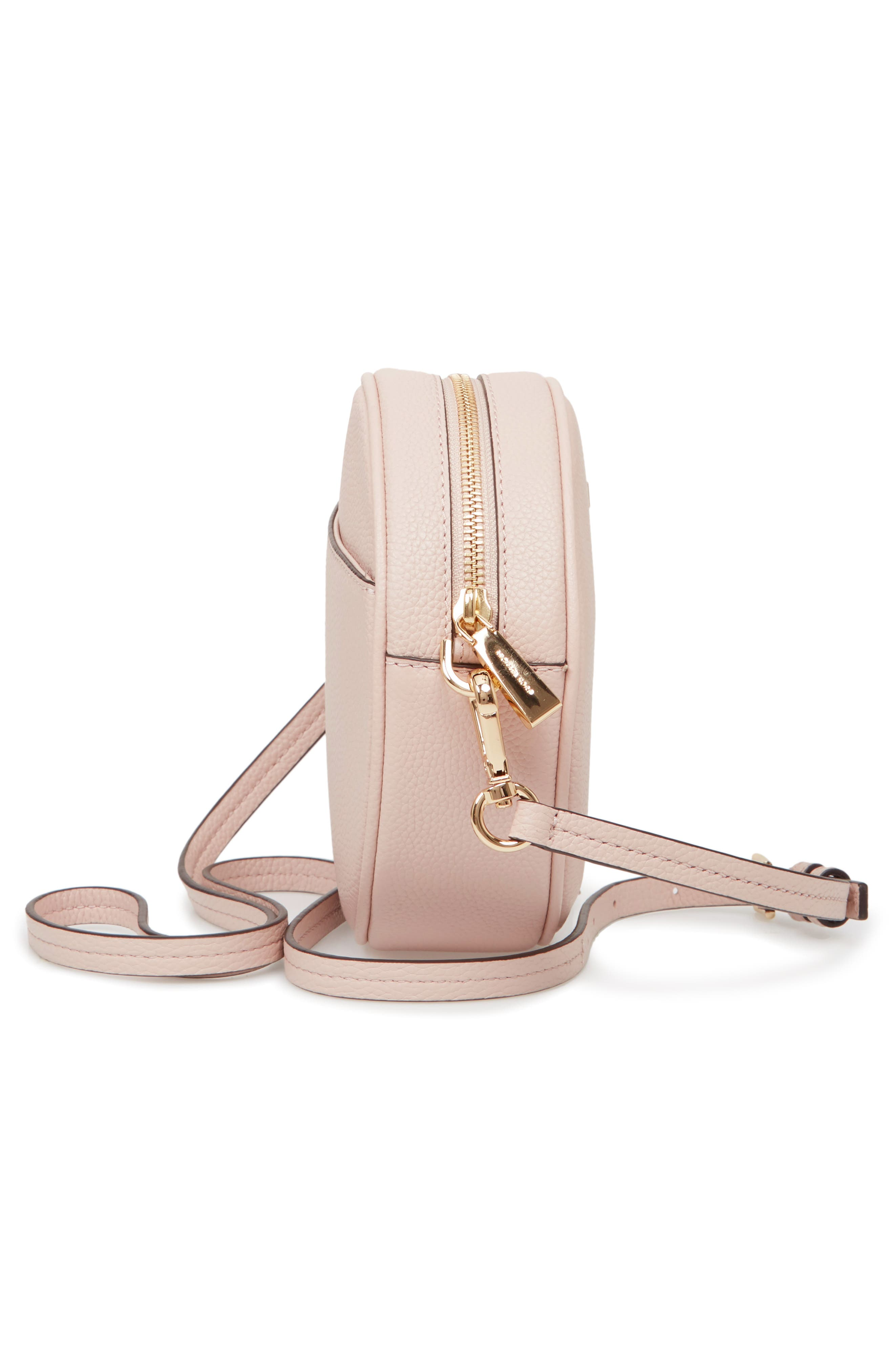 Medium Leather Canteen Bag,                             Alternate thumbnail 5, color,                             Soft Pink