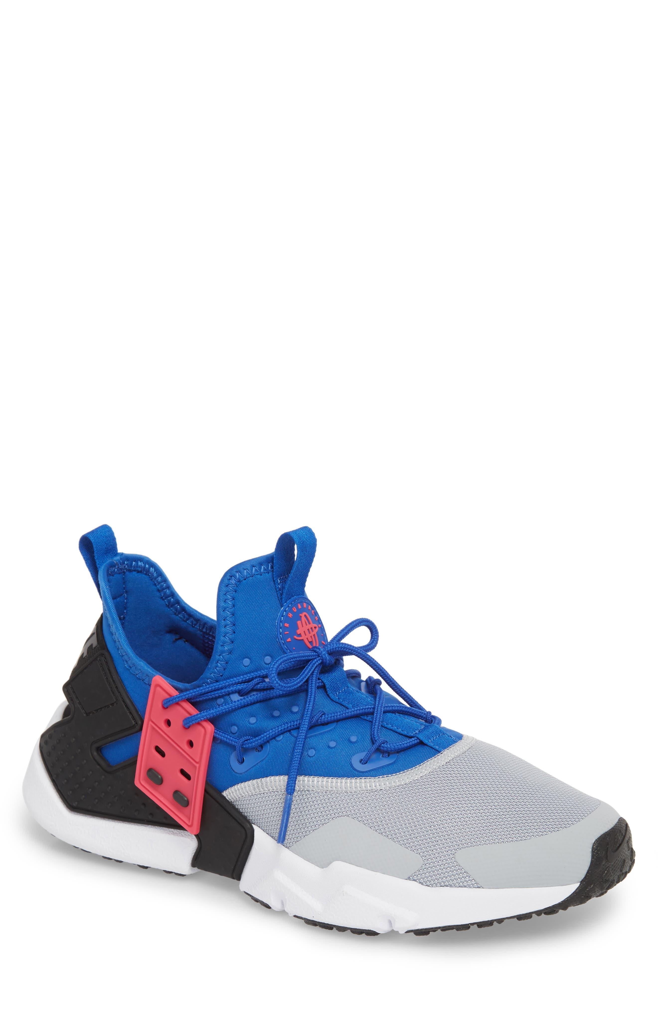 Air Huarache Drift Sneaker,                             Main thumbnail 1, color,                             Game Royal/ White/ Wolf Grey