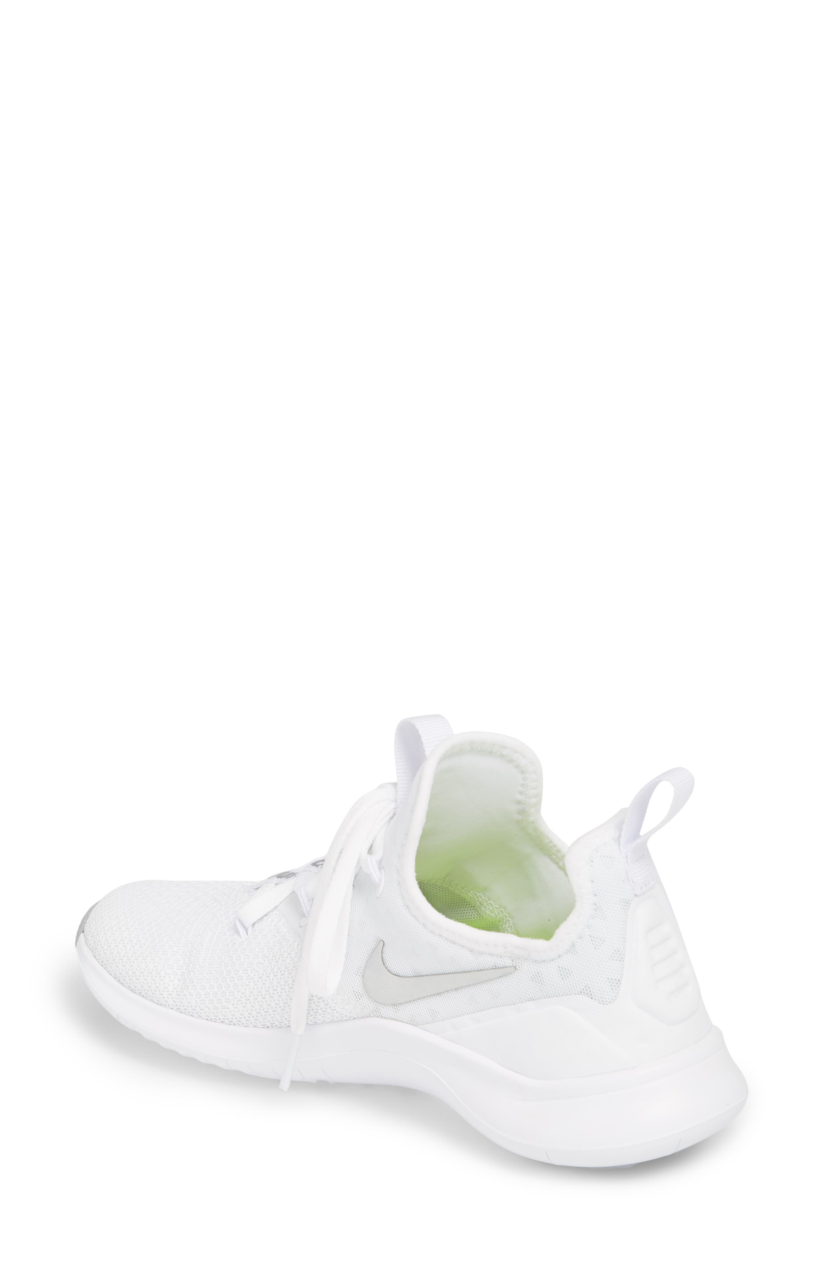 Free TR8 Training Shoe,                             Alternate thumbnail 2, color,                             White/ Metallic Silver/ White