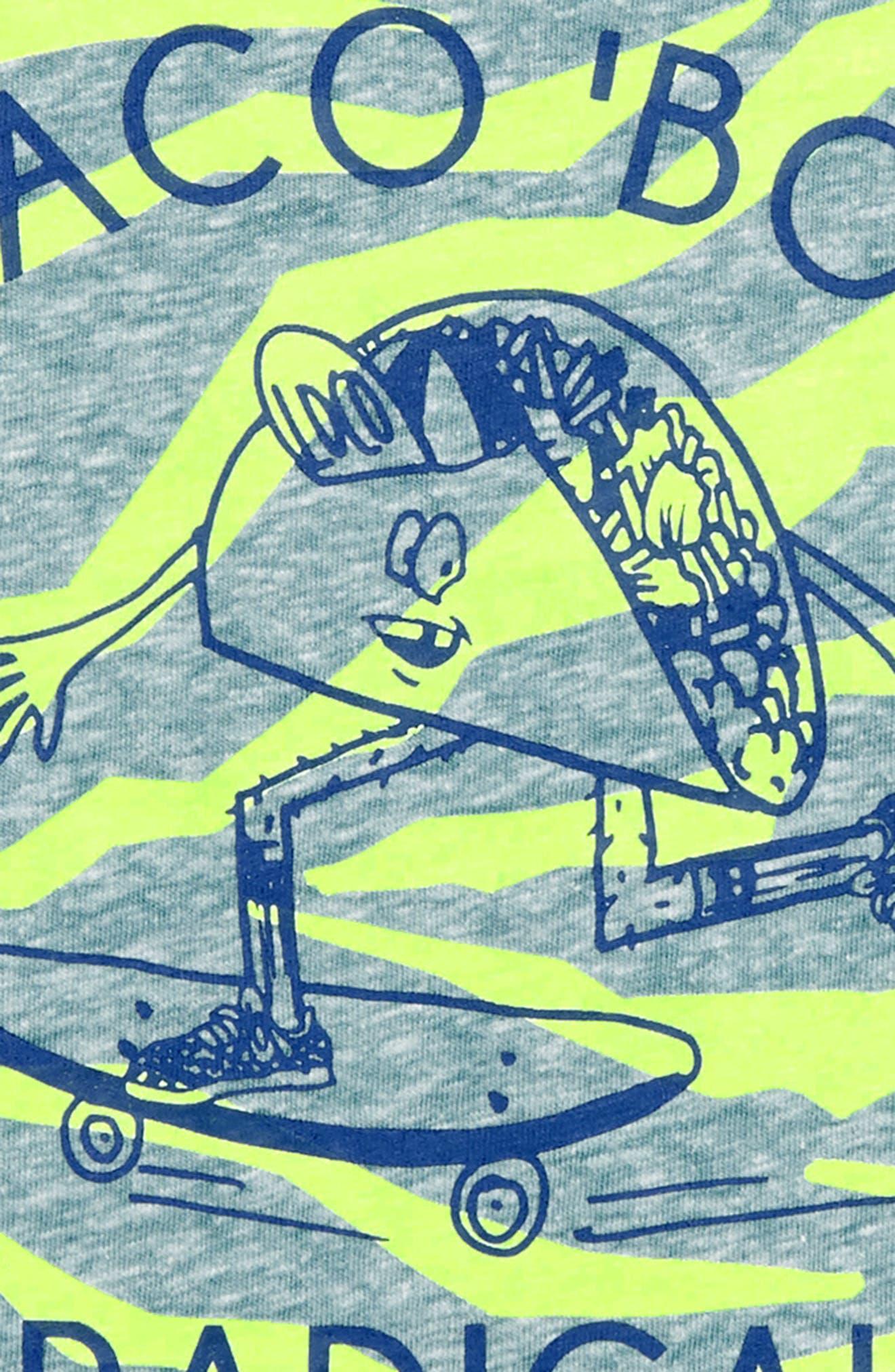 Taco 'Bout Radical T-Shirt,                             Alternate thumbnail 2, color,                             Voyage Blue